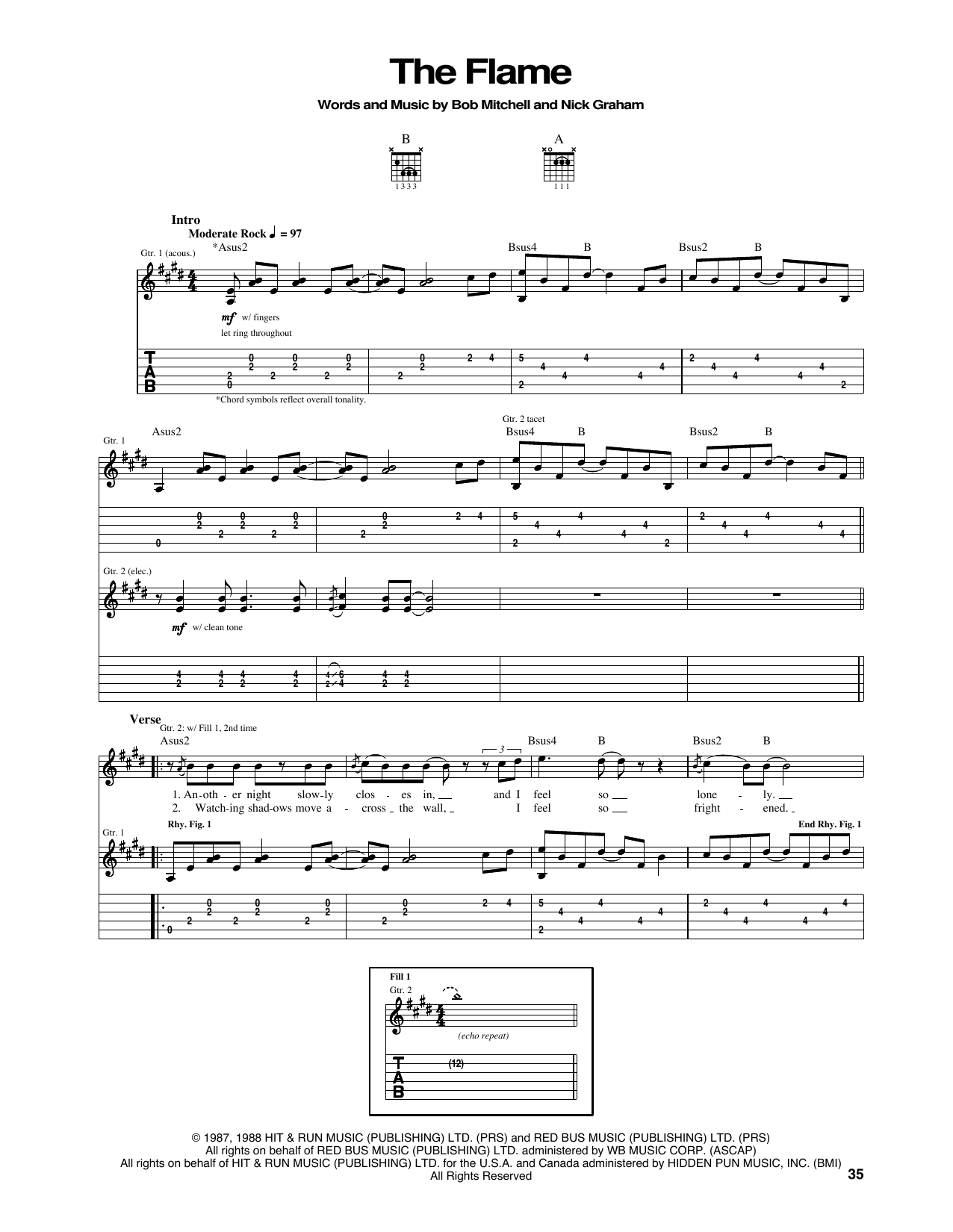 The Flame Sheet Music