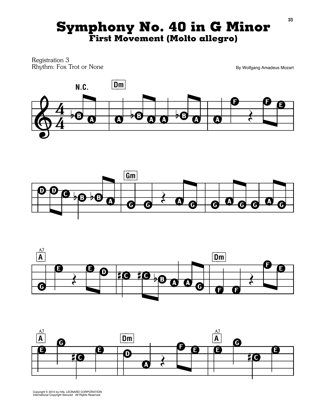 Symphony No. 40 In G Minor, First Movement Excerpt Sheet Music
