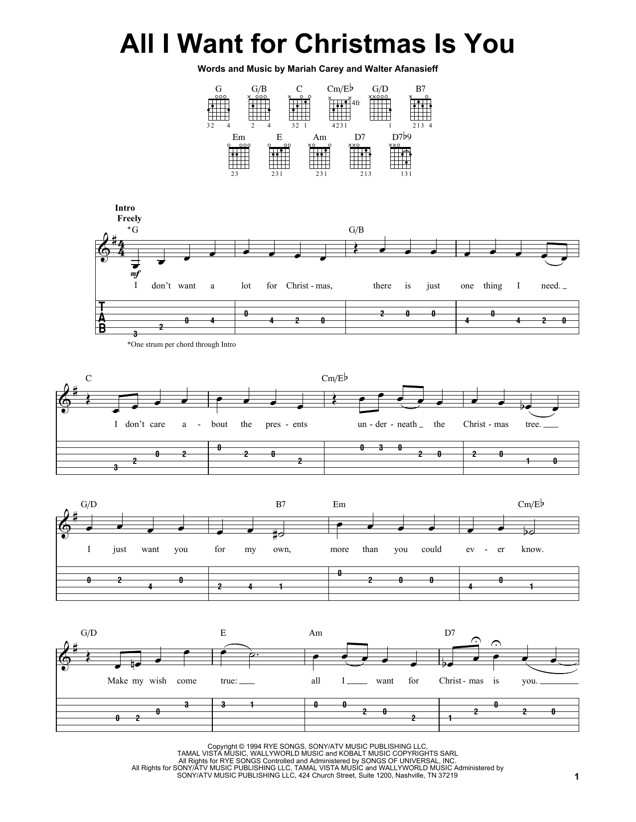 All i want for christmas is you sheet music direct all i want for christmas is you hexwebz Images