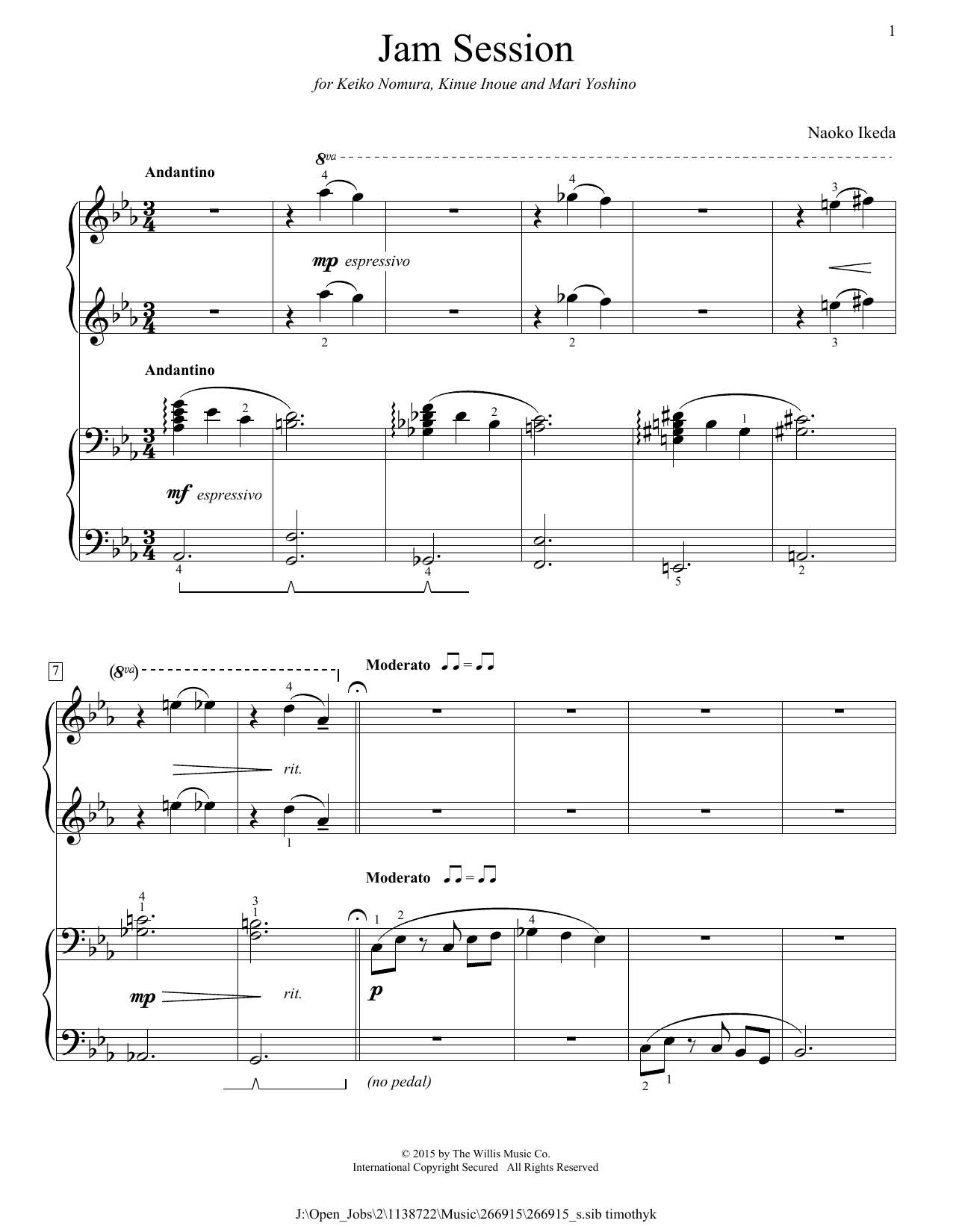 Jam Session Sheet Music