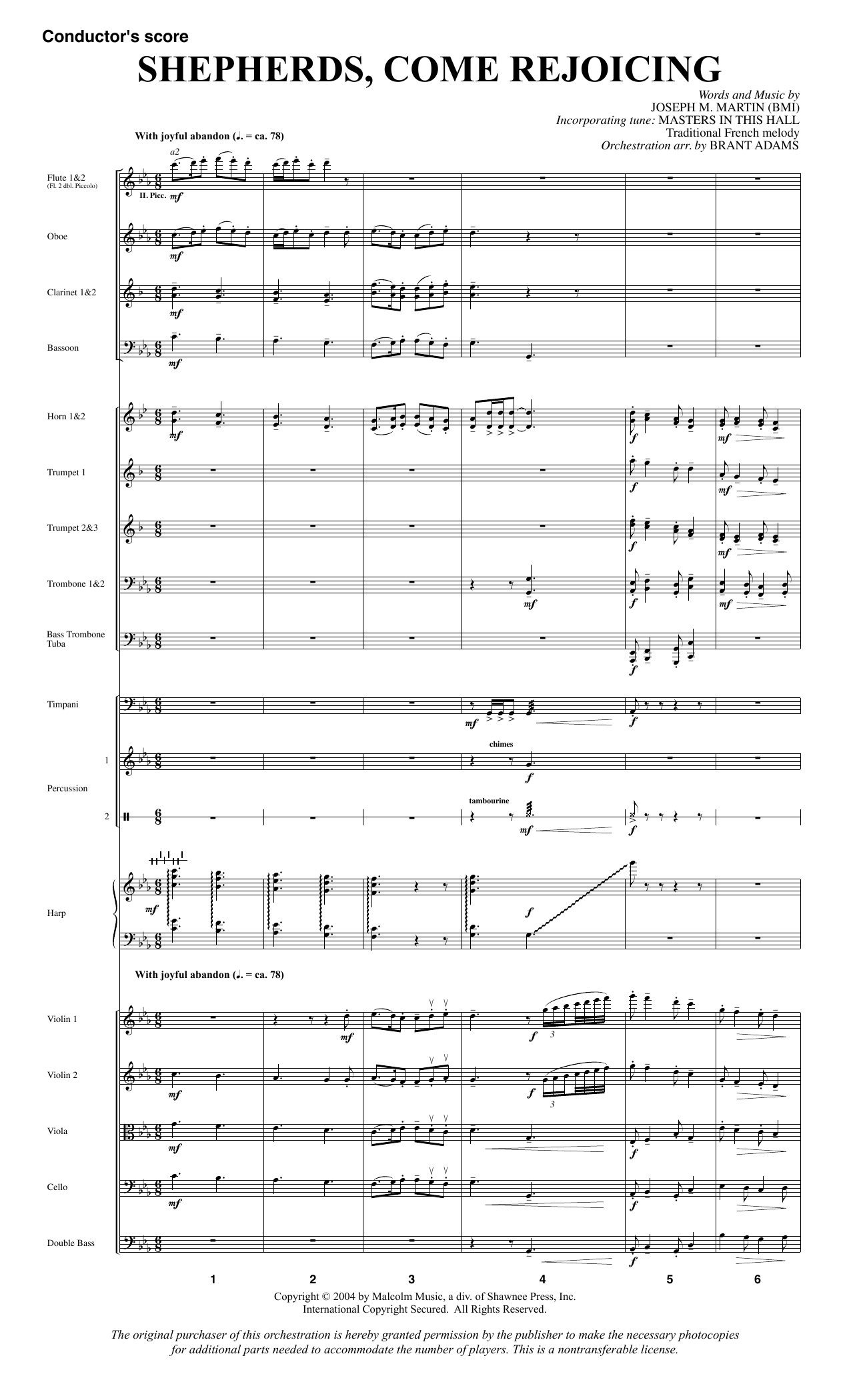 Shepherds, Come Rejoicing (from Voices Of Christmas) - Full Score (Choir Instrumental Pak)