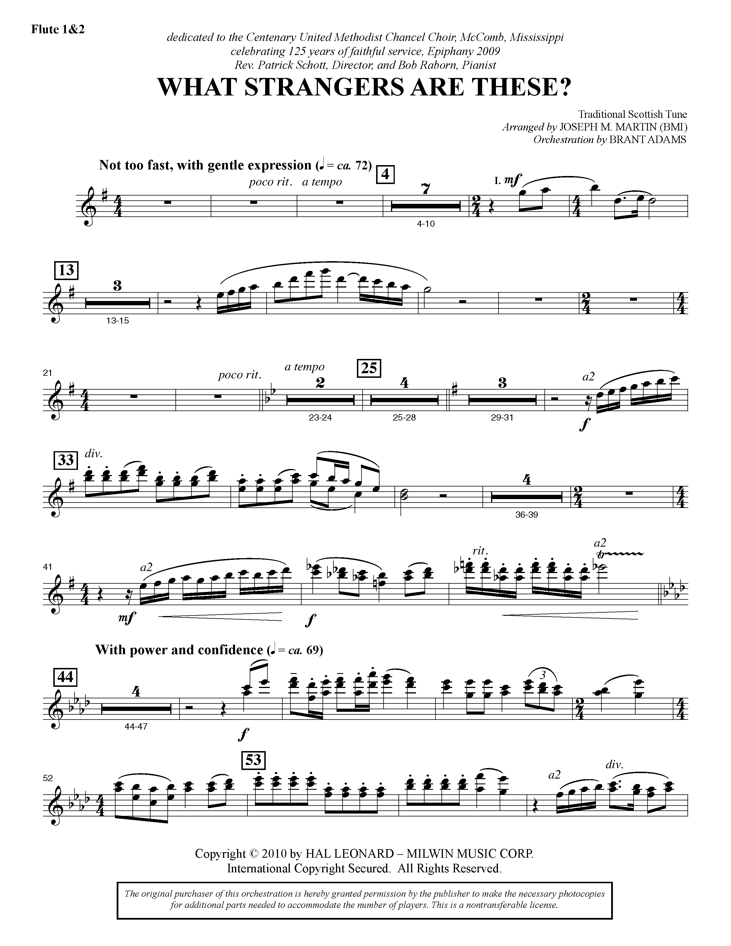 What Strangers Are These? (from Winter's Grace) - Flute 1 & 2 (Choir Instrumental Pak)