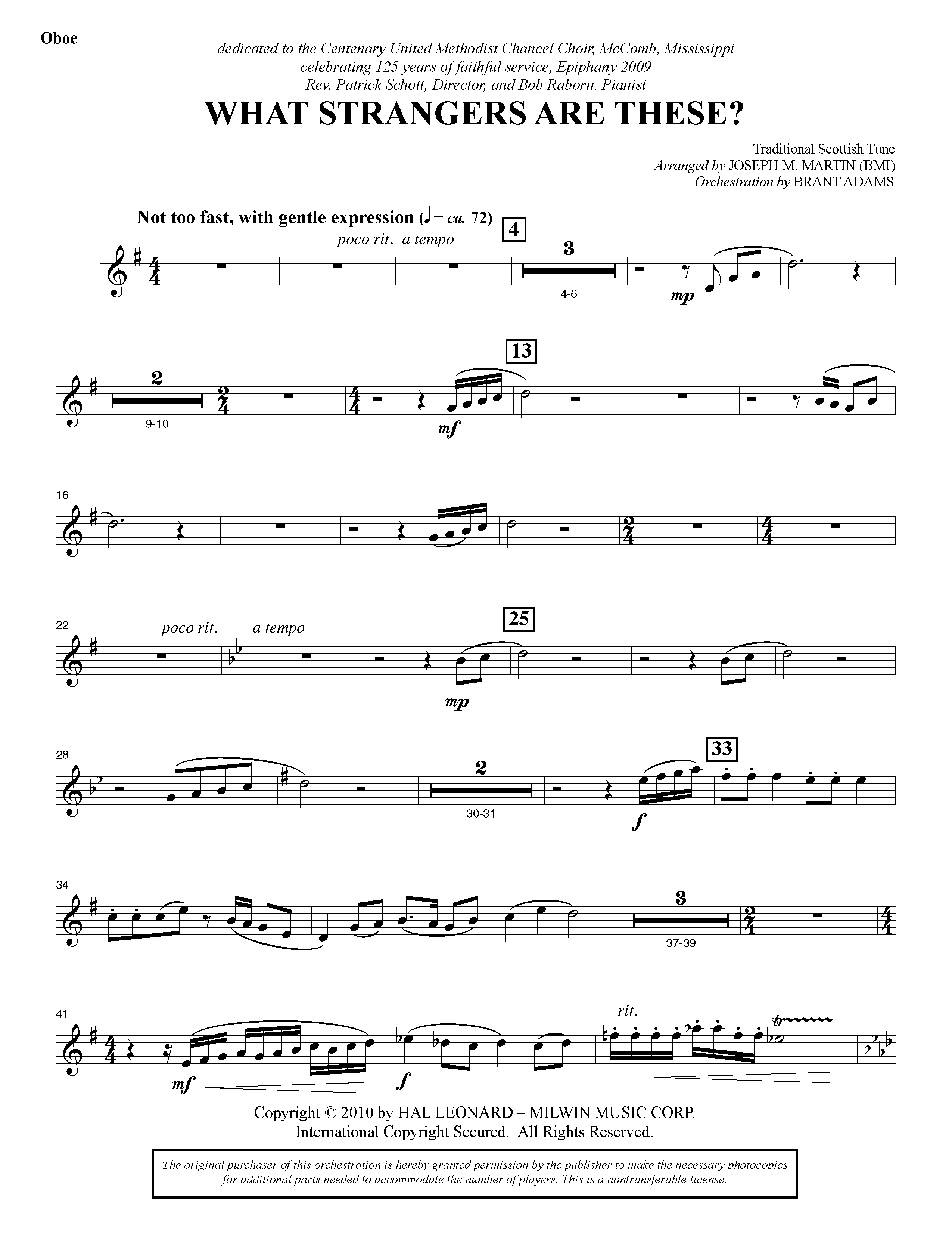 What Strangers Are These? (from Winter's Grace) - Oboe (Choir Instrumental Pak)