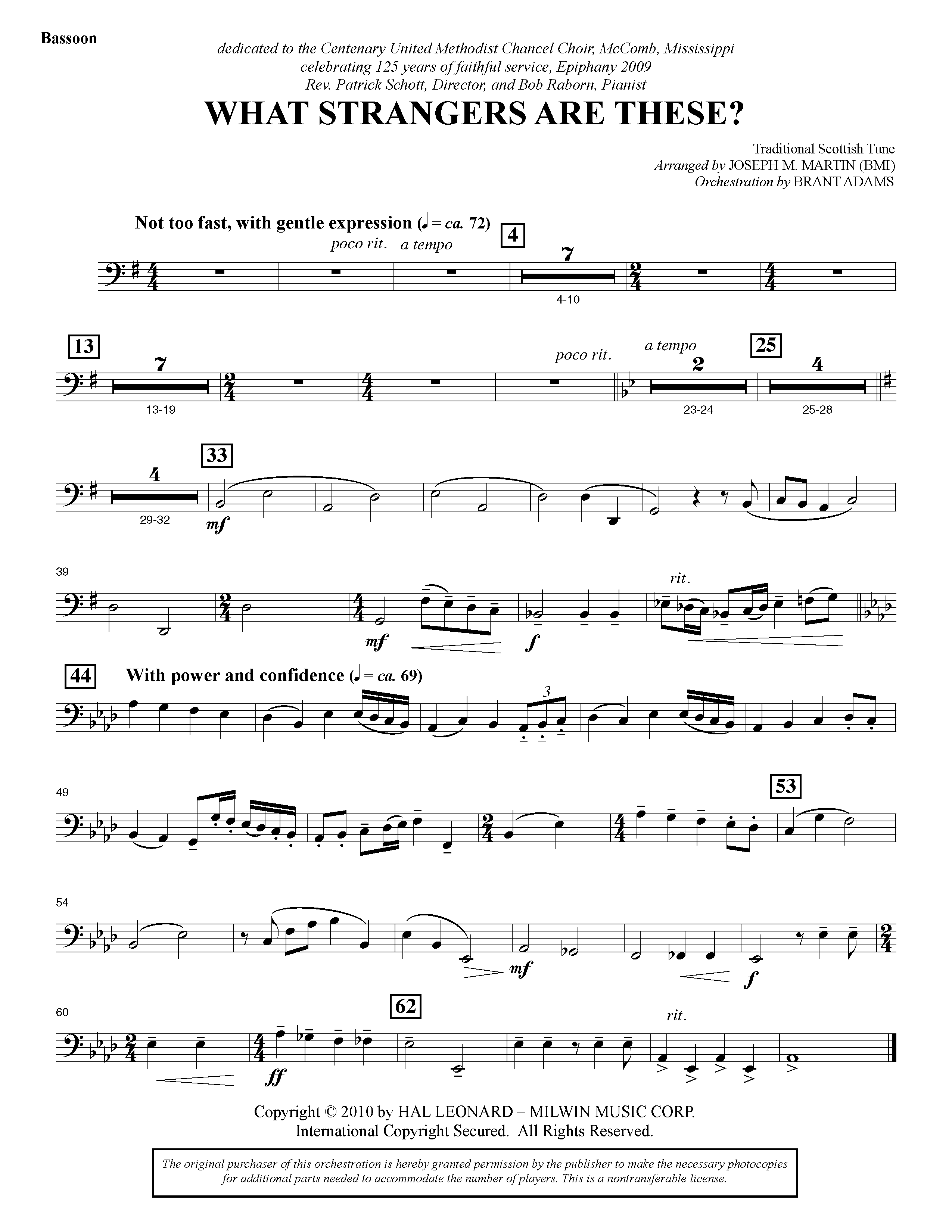 What Strangers Are These? (from Winter's Grace) - Bassoon (Choir Instrumental Pak)