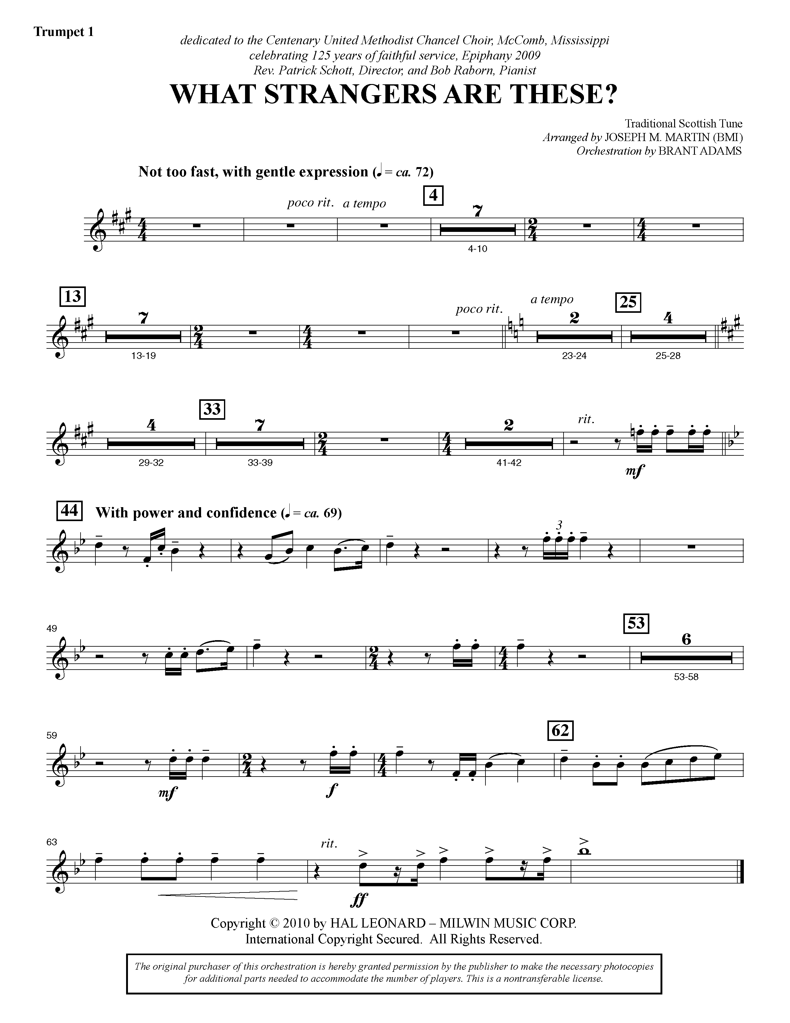 What Strangers Are These? (from Winter's Grace) - Bb Trumpet 1 (Choir Instrumental Pak)