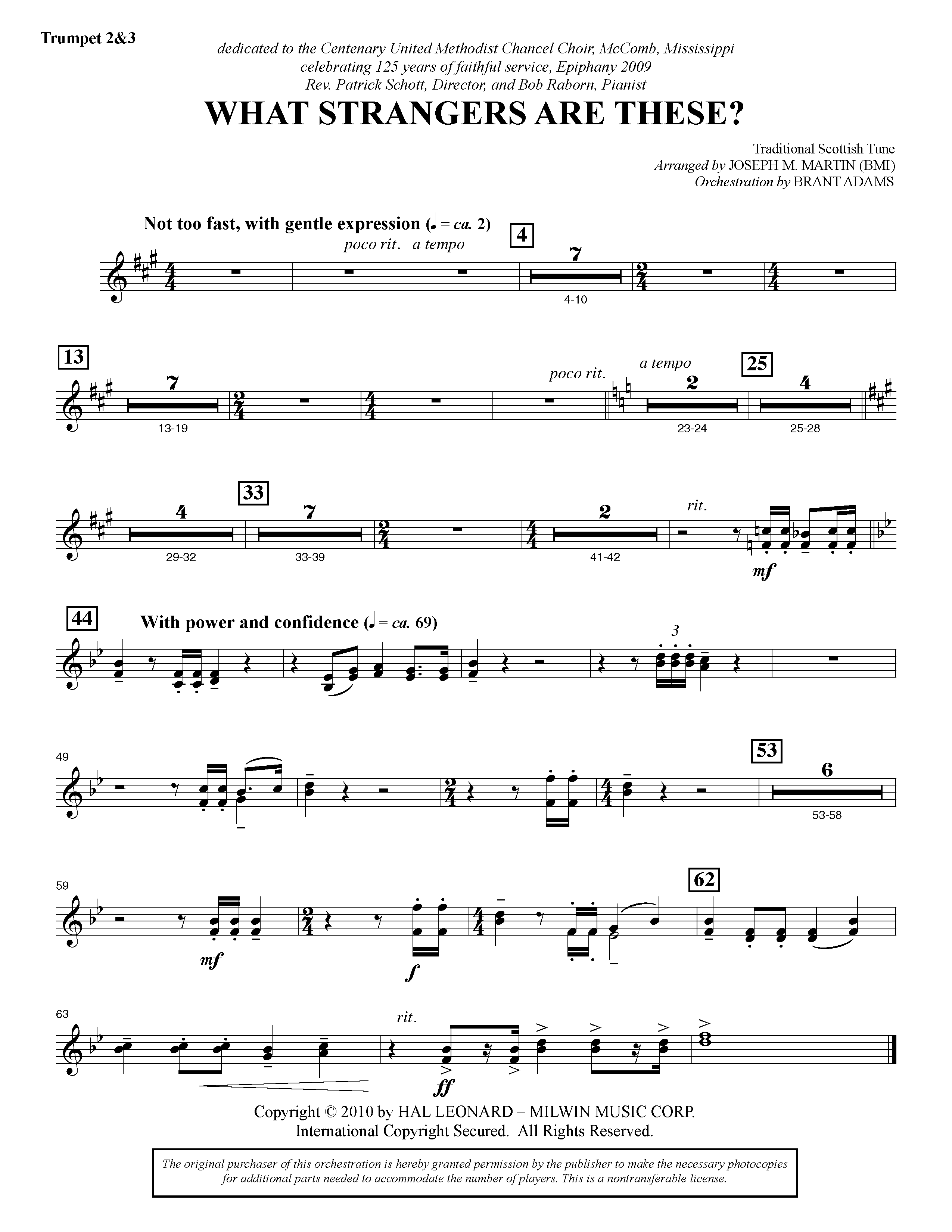 What Strangers Are These? (from Winter's Grace) - Bb Trumpet 2,3 (Choir Instrumental Pak)