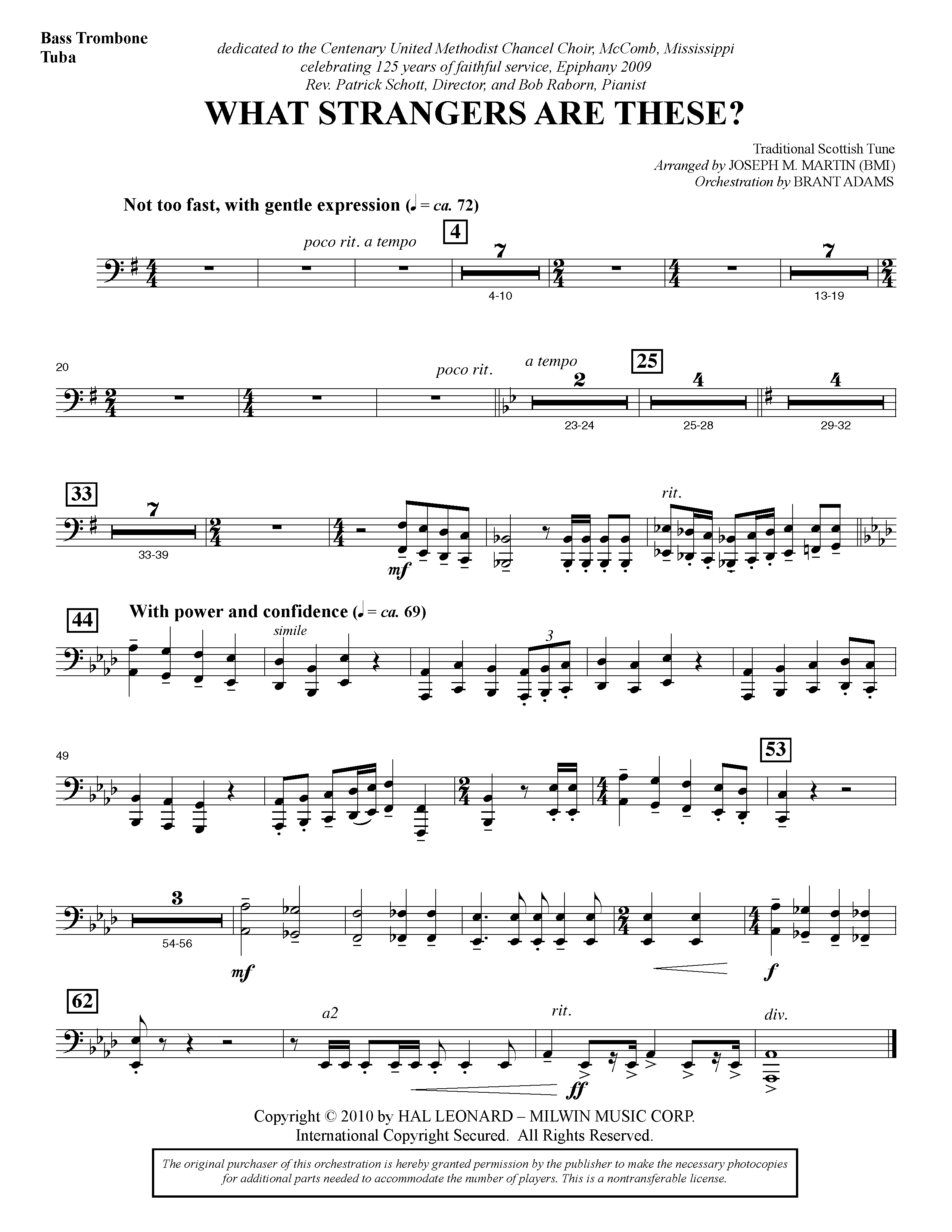 What Strangers Are These? (from Winter's Grace) - Bass Trombone/Tuba (Choir Instrumental Pak)