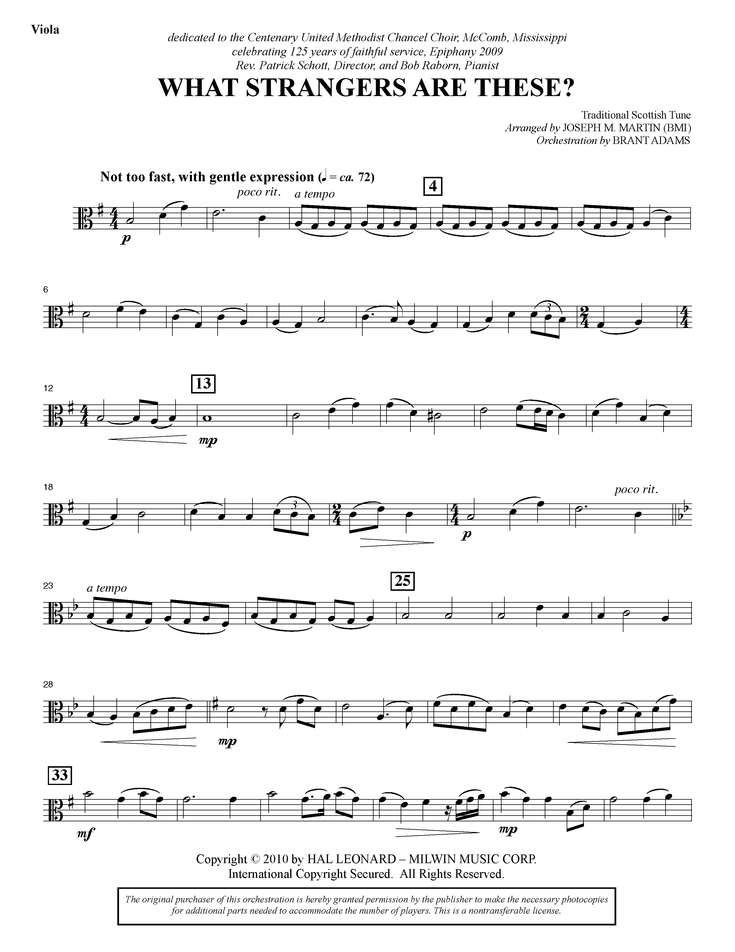 What Strangers Are These? (from Winter's Grace) - Viola (Choir Instrumental Pak)