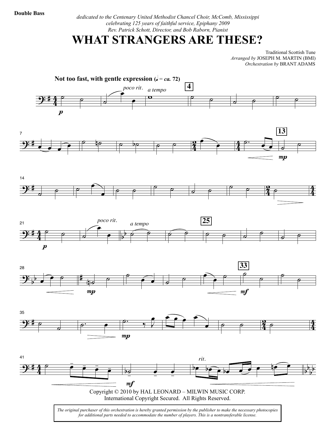 What Strangers Are These? (from Winter's Grace) - Double Bass (Choir Instrumental Pak)