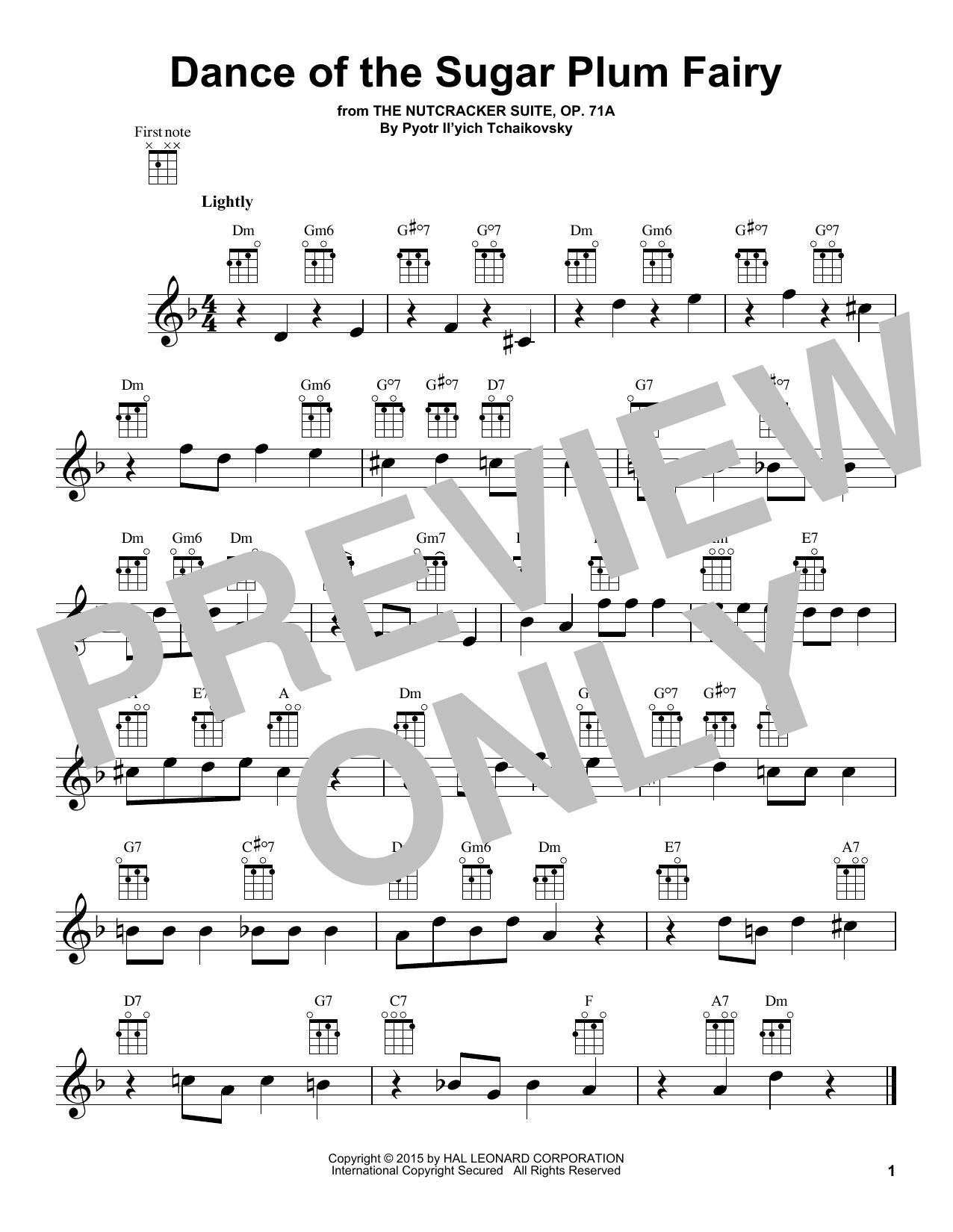 Dance Of The Sugar Plum Fairy, Op. 71a (Ukulele)