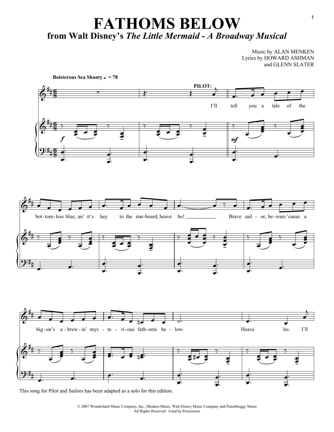 Fathoms Below Sheet Music