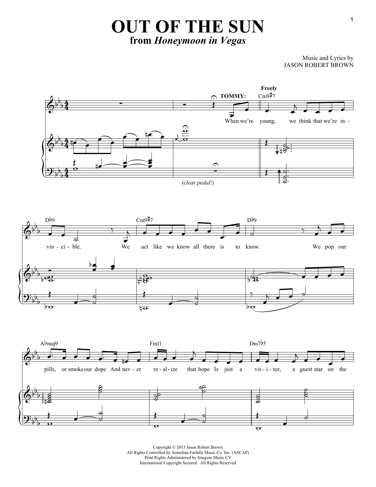 Out Of The Sun Sheet Music