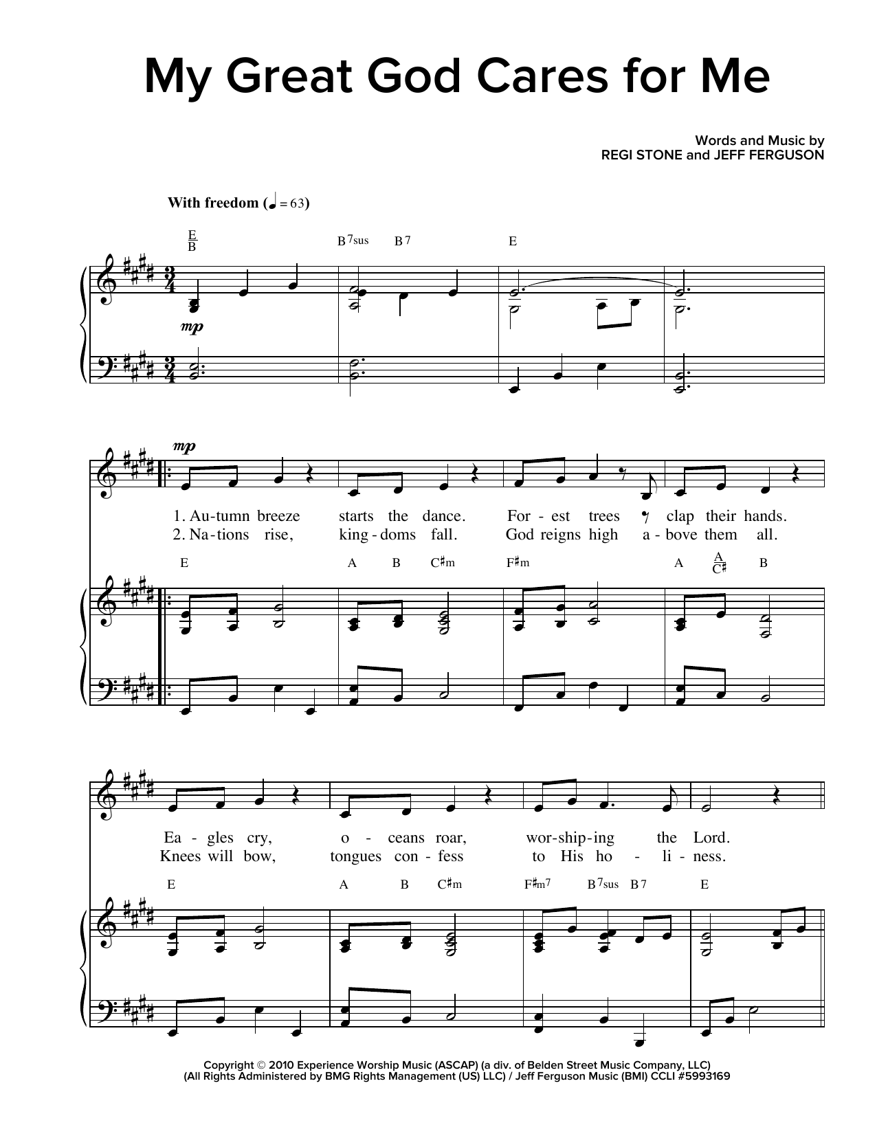 My Great God Cares For Me Sheet Music