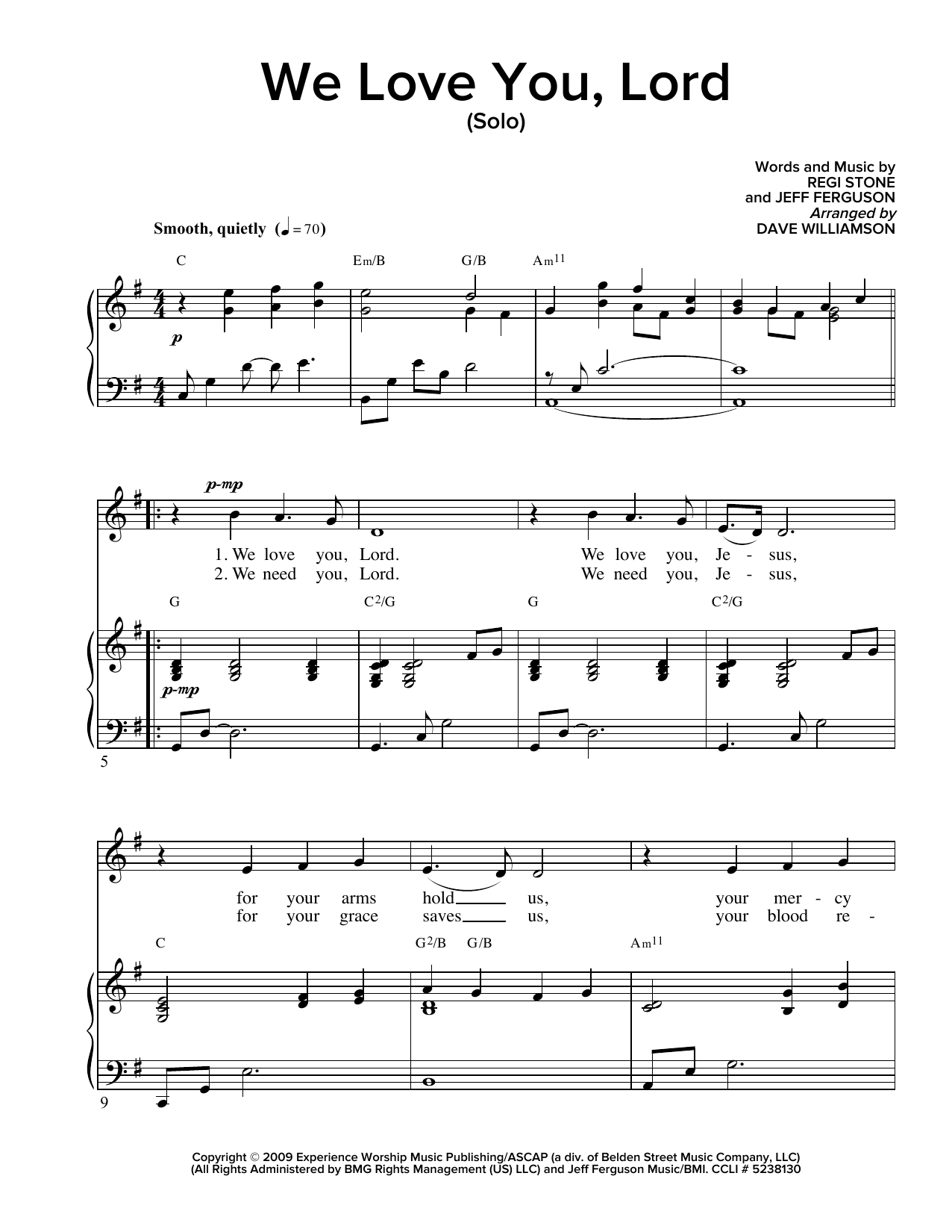 i and love and you sheet music pdf