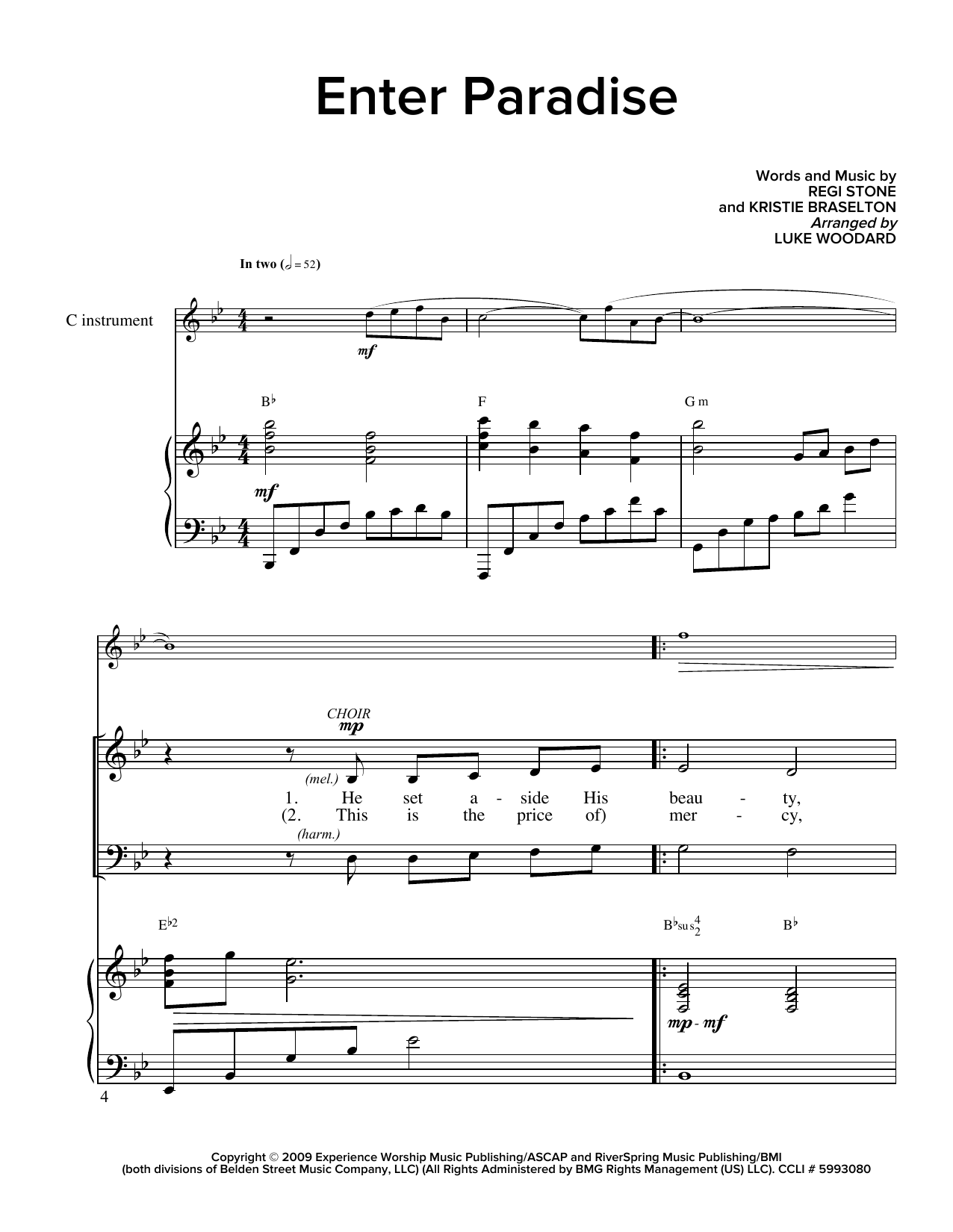 Enter Paradise (arr. Luke Woodard) Sheet Music