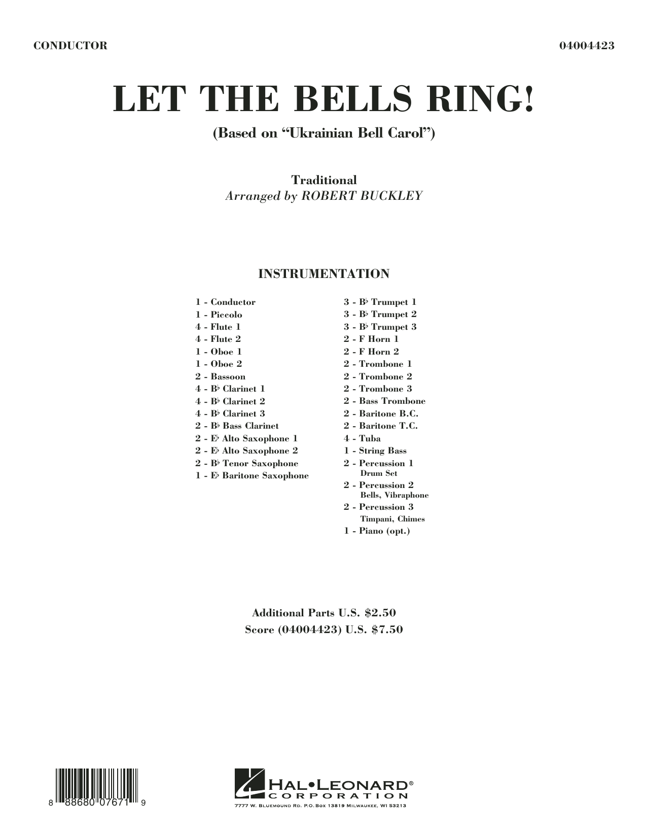 Let the Bells Ring! - Conductor Score (Full Score) (Concert Band)