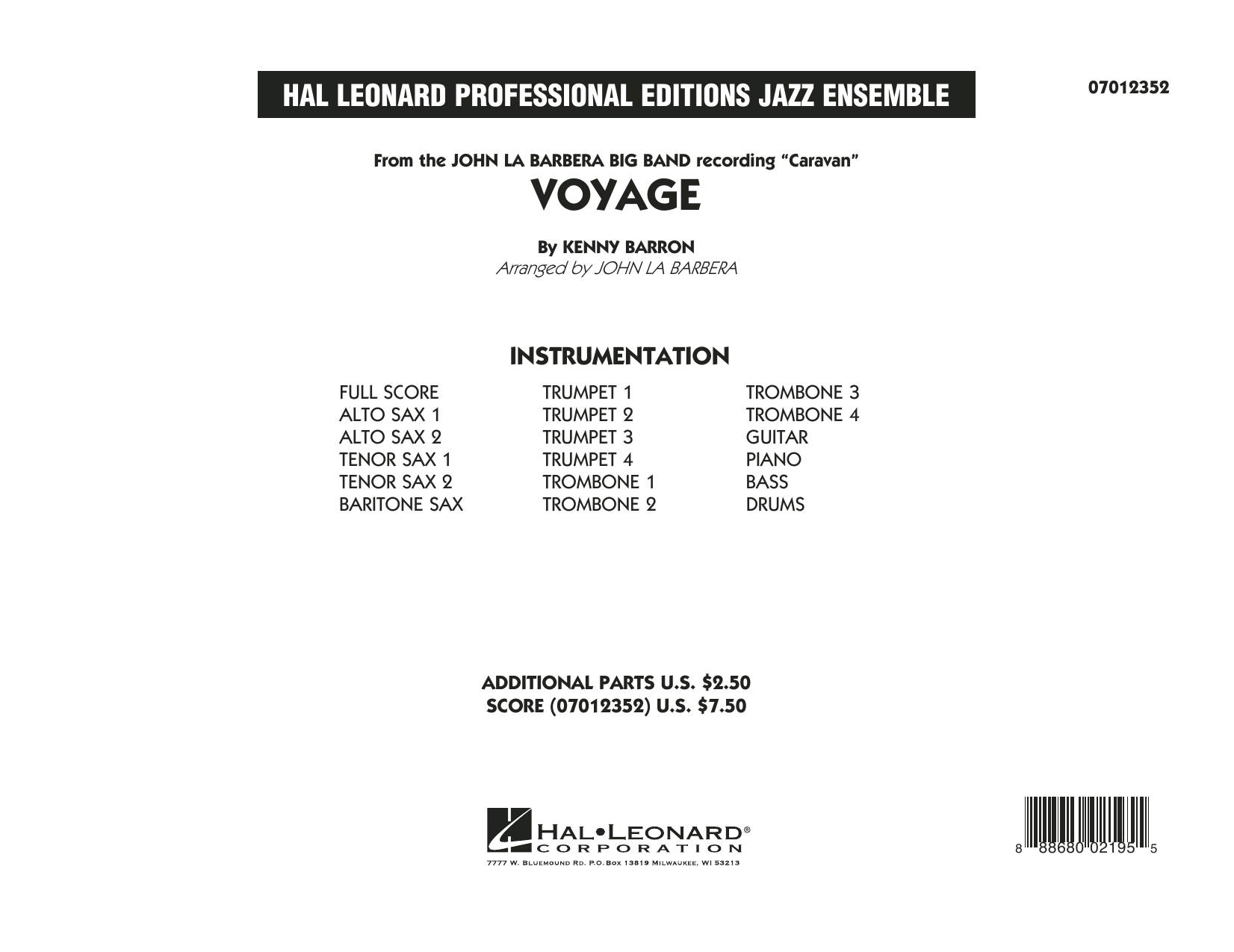 Voyage - Conductor Score (Full Score) (Jazz Ensemble)