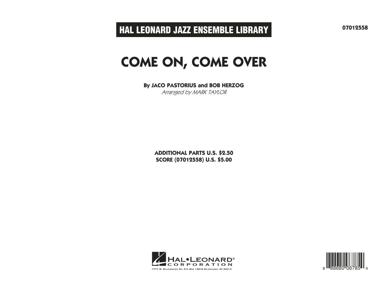 Come On, Come Over - Conductor Score (Full Score) (Jazz Ensemble)