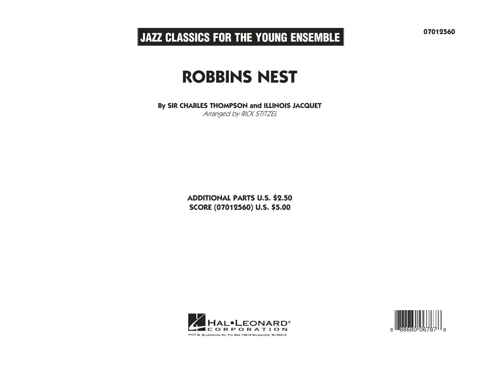 Robbins Nest - Conductor Score (Full Score) (Jazz Ensemble)