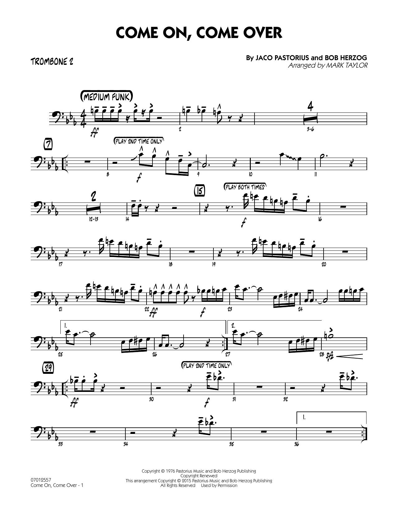 Come On, Come Over - Trombone 2 (Jazz Ensemble)