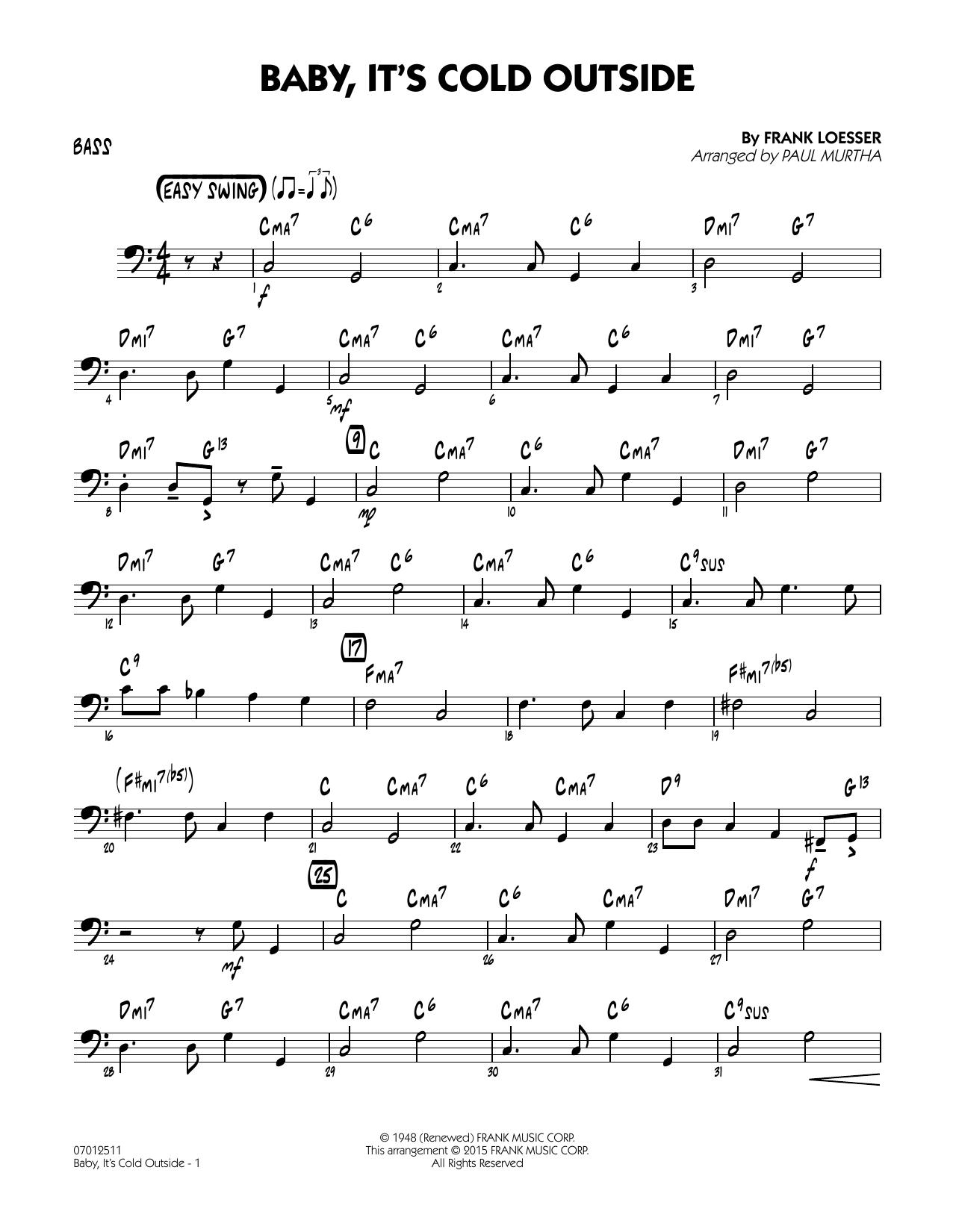 Baby, It's Cold Outside (Key: C) - Bass (Jazz Ensemble)