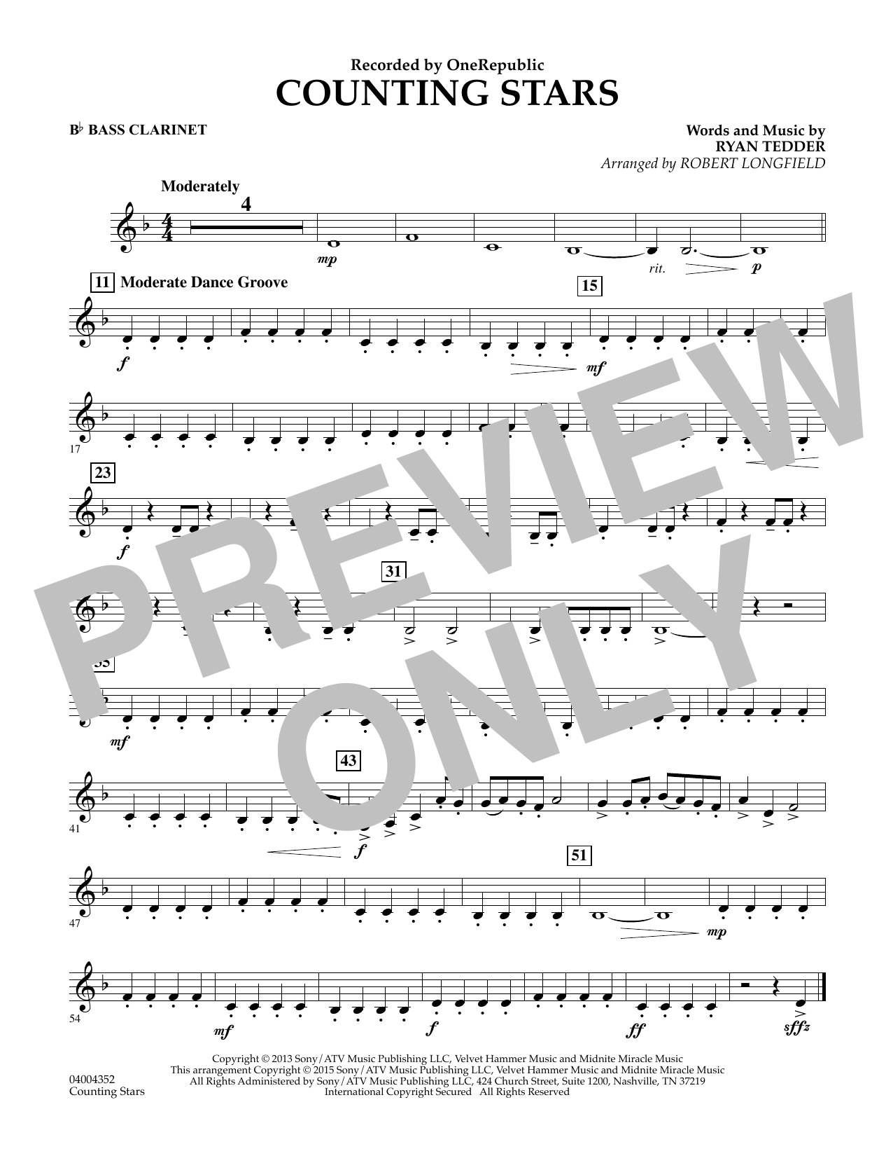 Counting stars bb bass clarinet sheet music to download hexwebz Images
