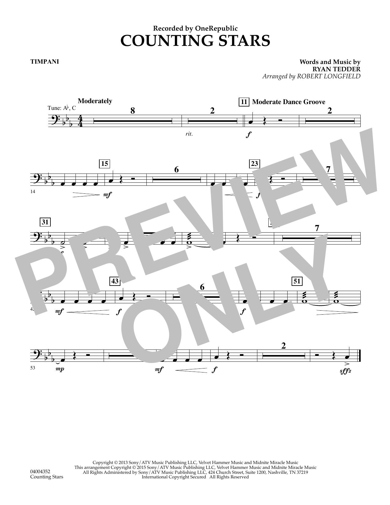 Counting Stars - Timpani (Concert Band)