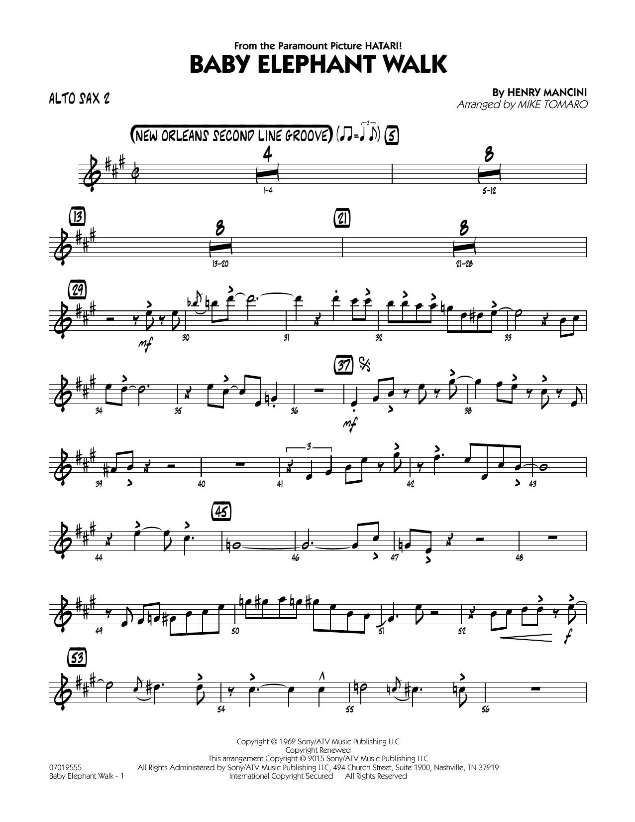 Baby Elephant Walk - Alto Sax 2 (Jazz Ensemble)