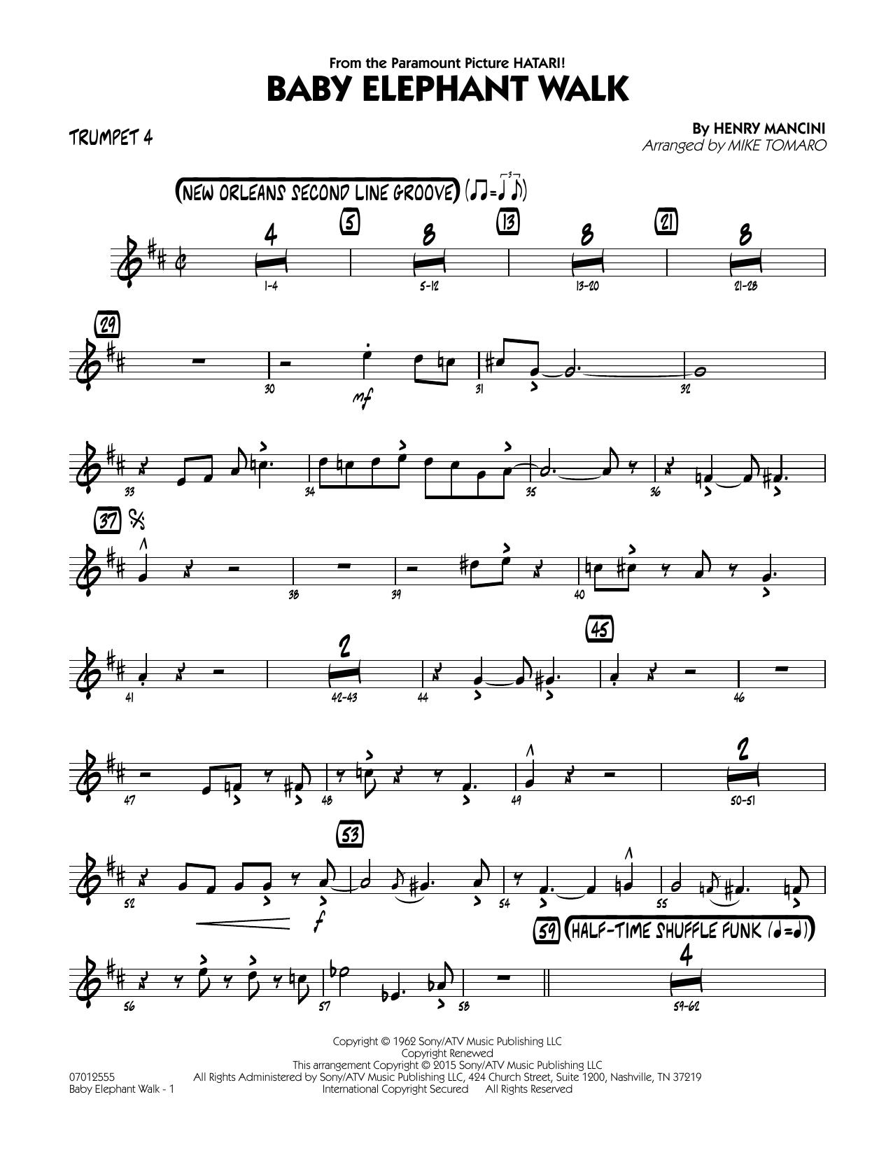 Baby Elephant Walk - Trumpet 4 (Jazz Ensemble)