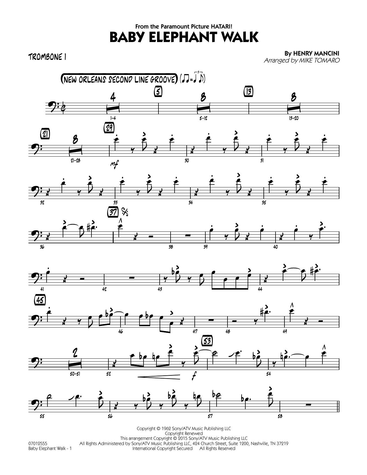 Baby Elephant Walk - Trombone 1