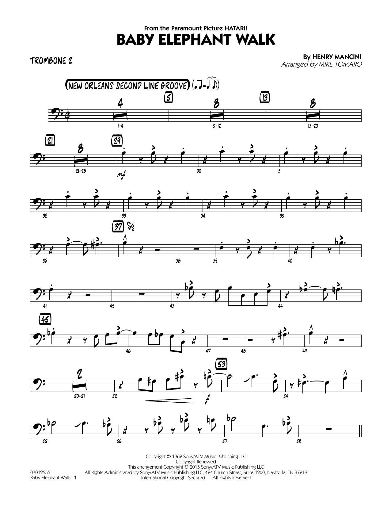 Baby Elephant Walk - Trombone 2 (Jazz Ensemble)