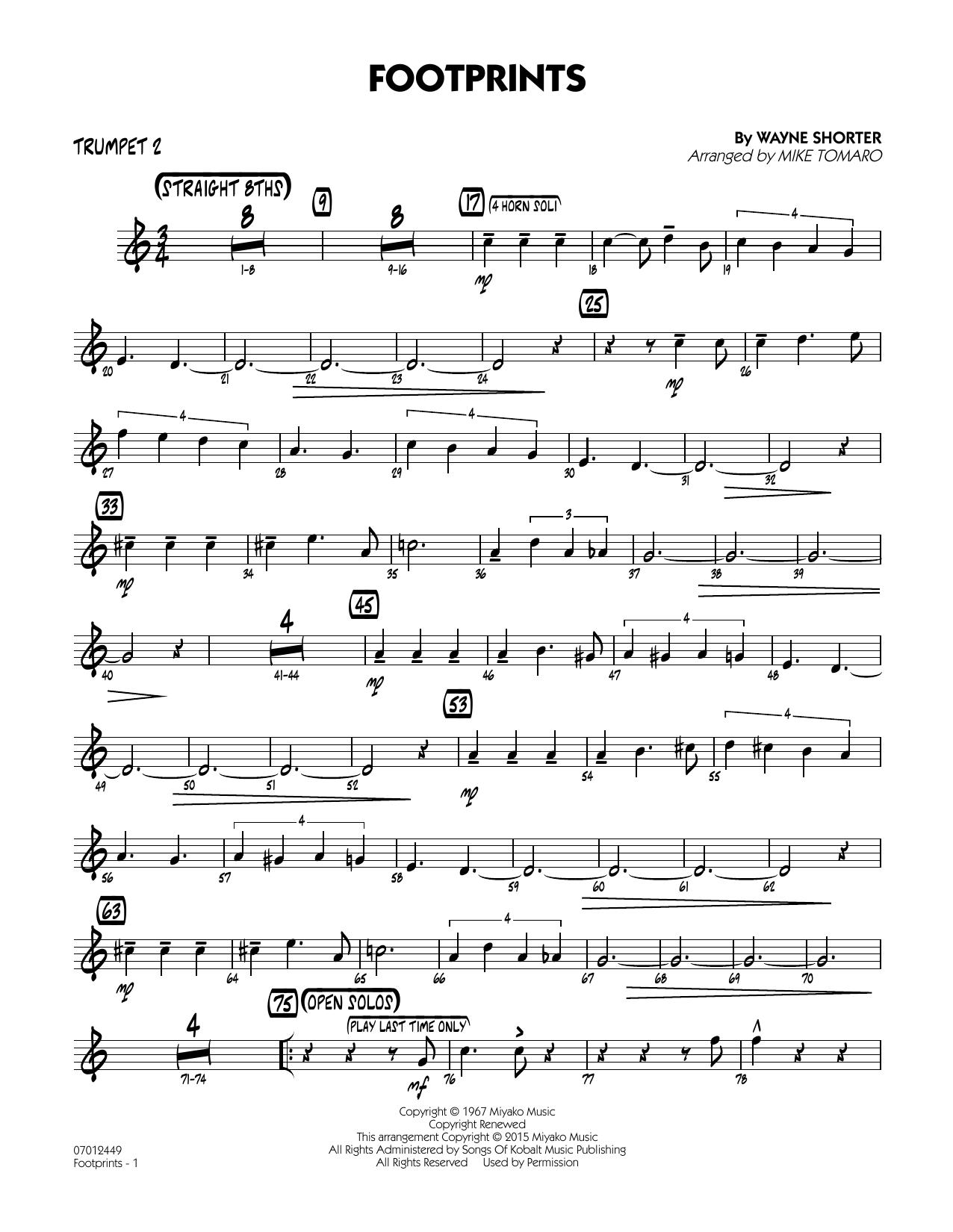 Footprints - Trumpet 2 (Jazz Ensemble)