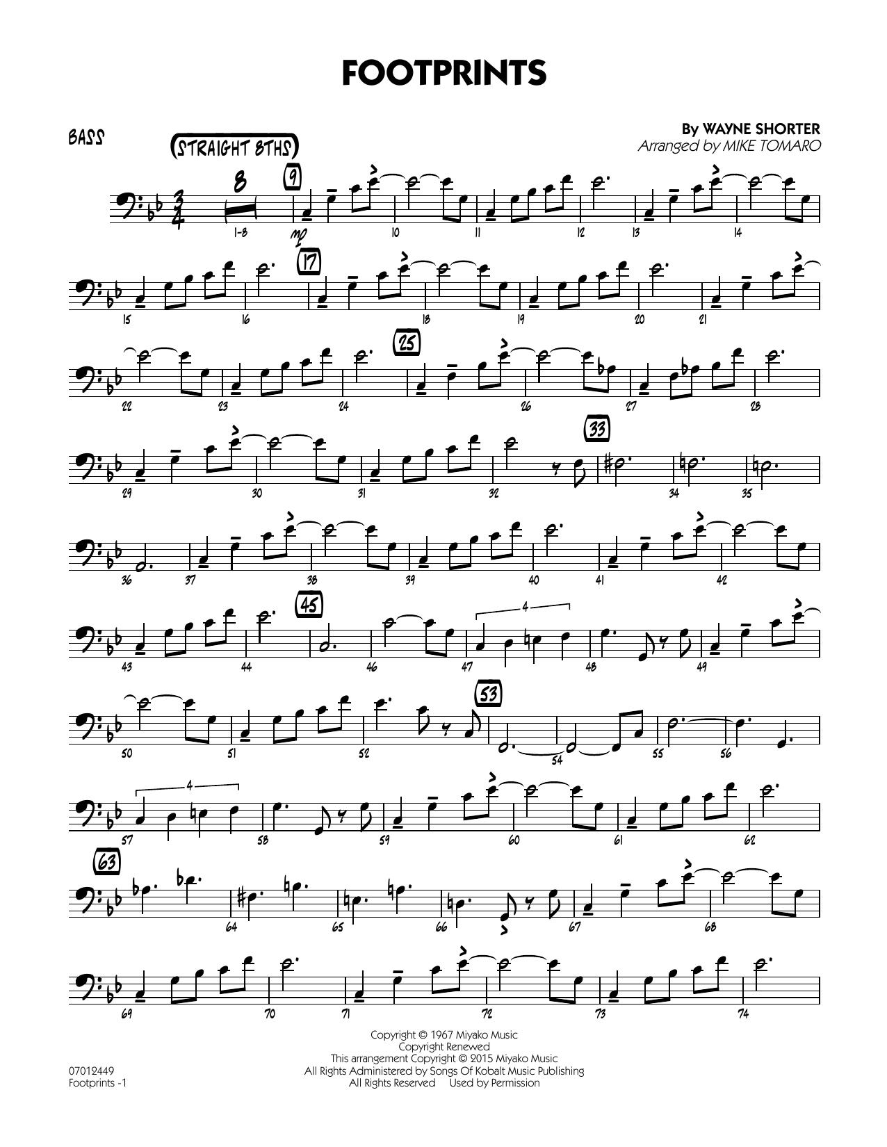 Footprints - Bass (Jazz Ensemble)