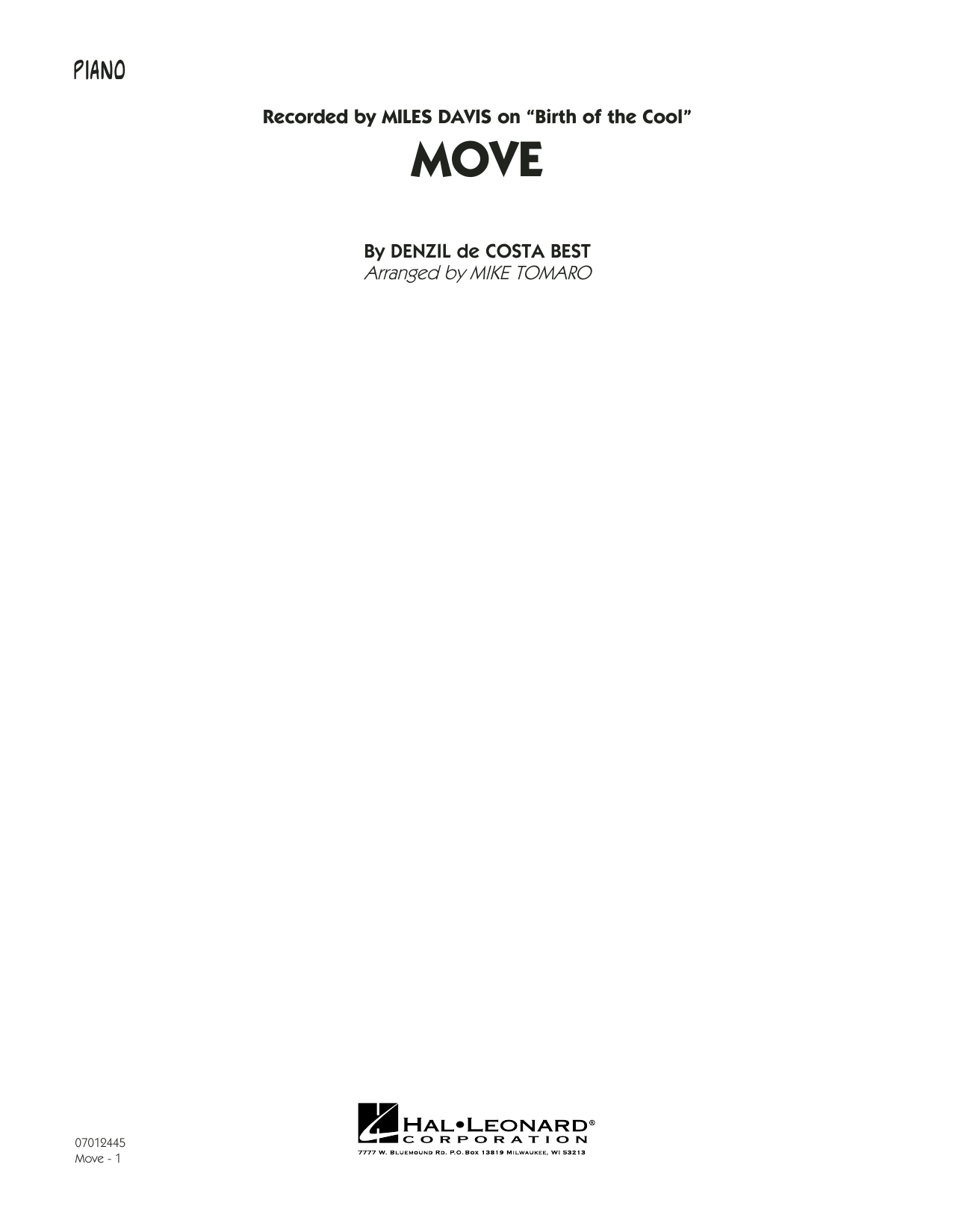 Move - Piano (Jazz Ensemble)
