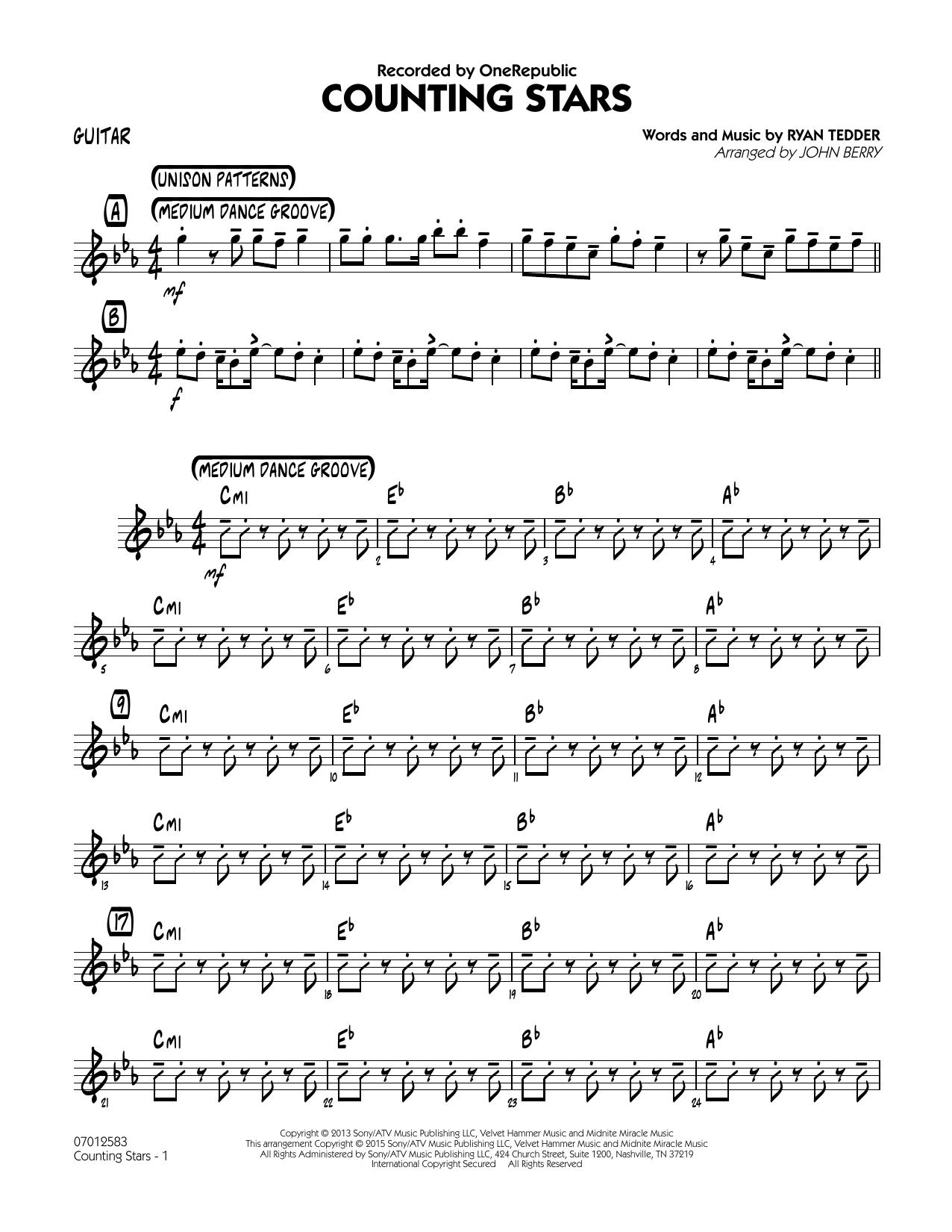 Counting Stars - Guitar (Jazz Ensemble)