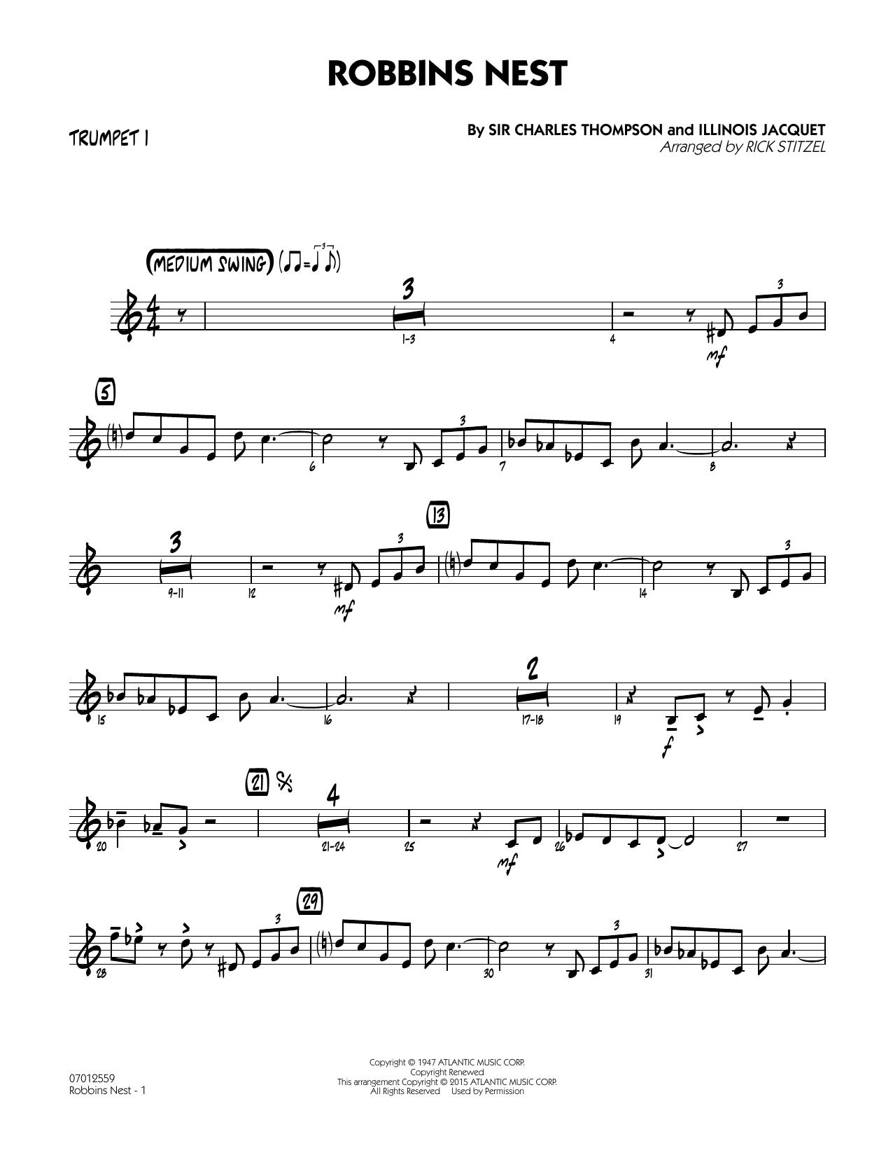 Robbins Nest - Trumpet 1 (Jazz Ensemble)