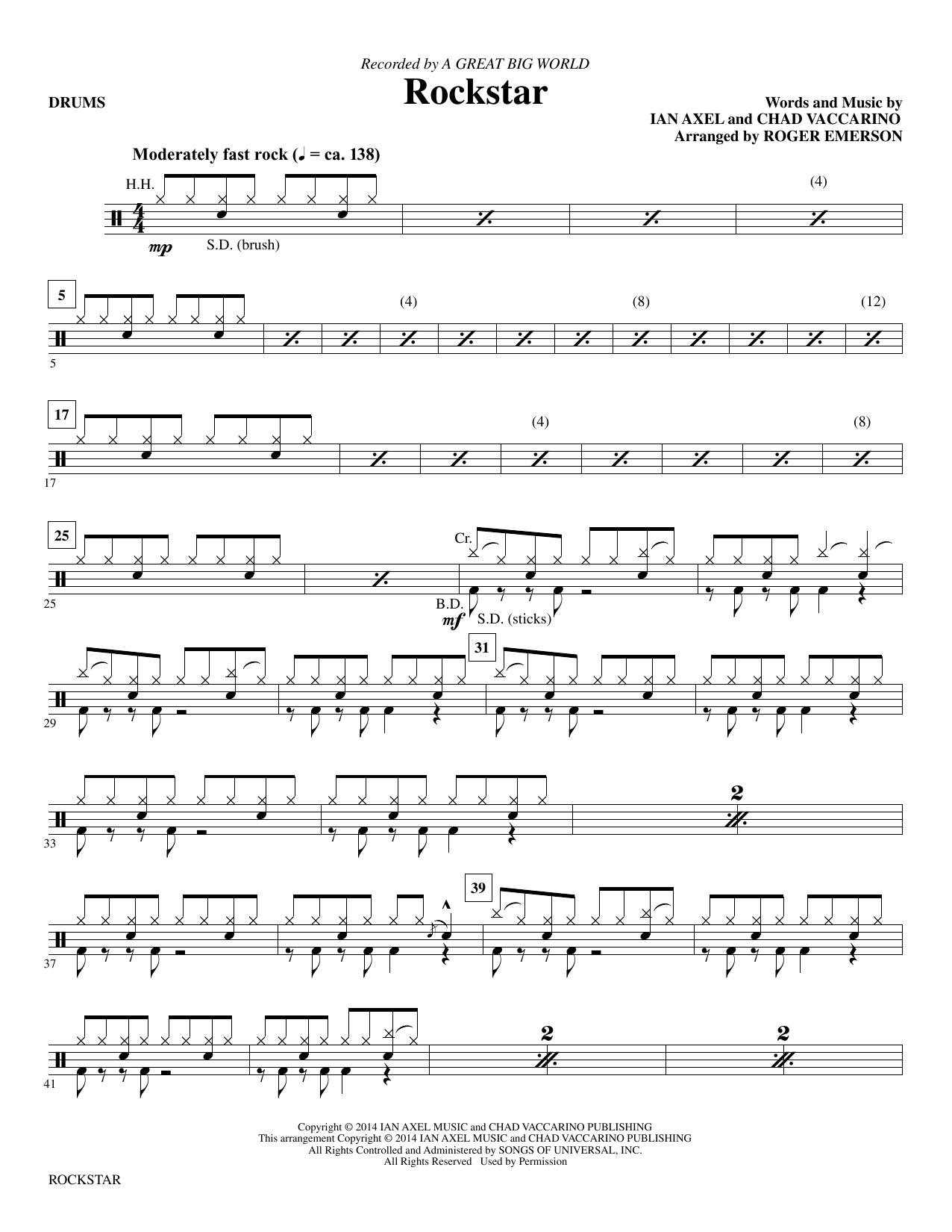 Rockstar - Drums Sheet Music