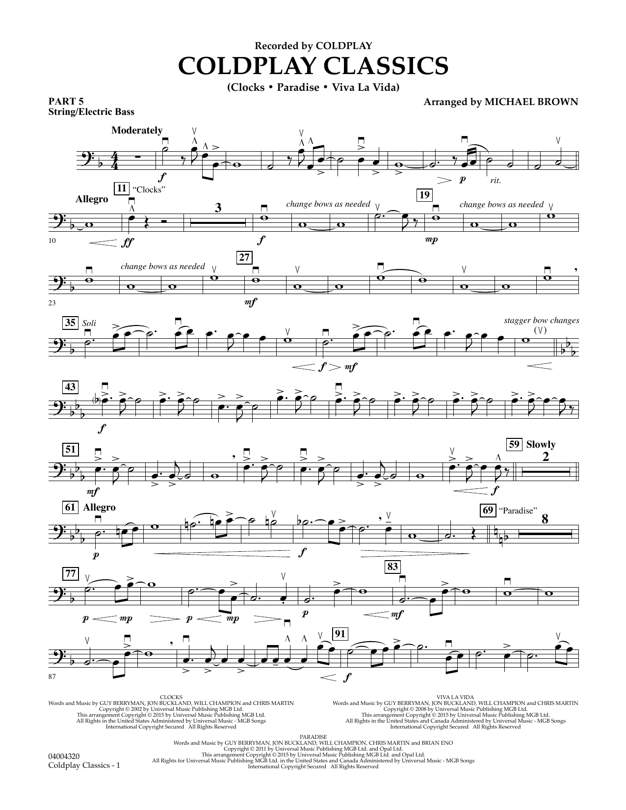 Coldplay Classics - Pt.5 - String/Electric Bass (Flex-Band)