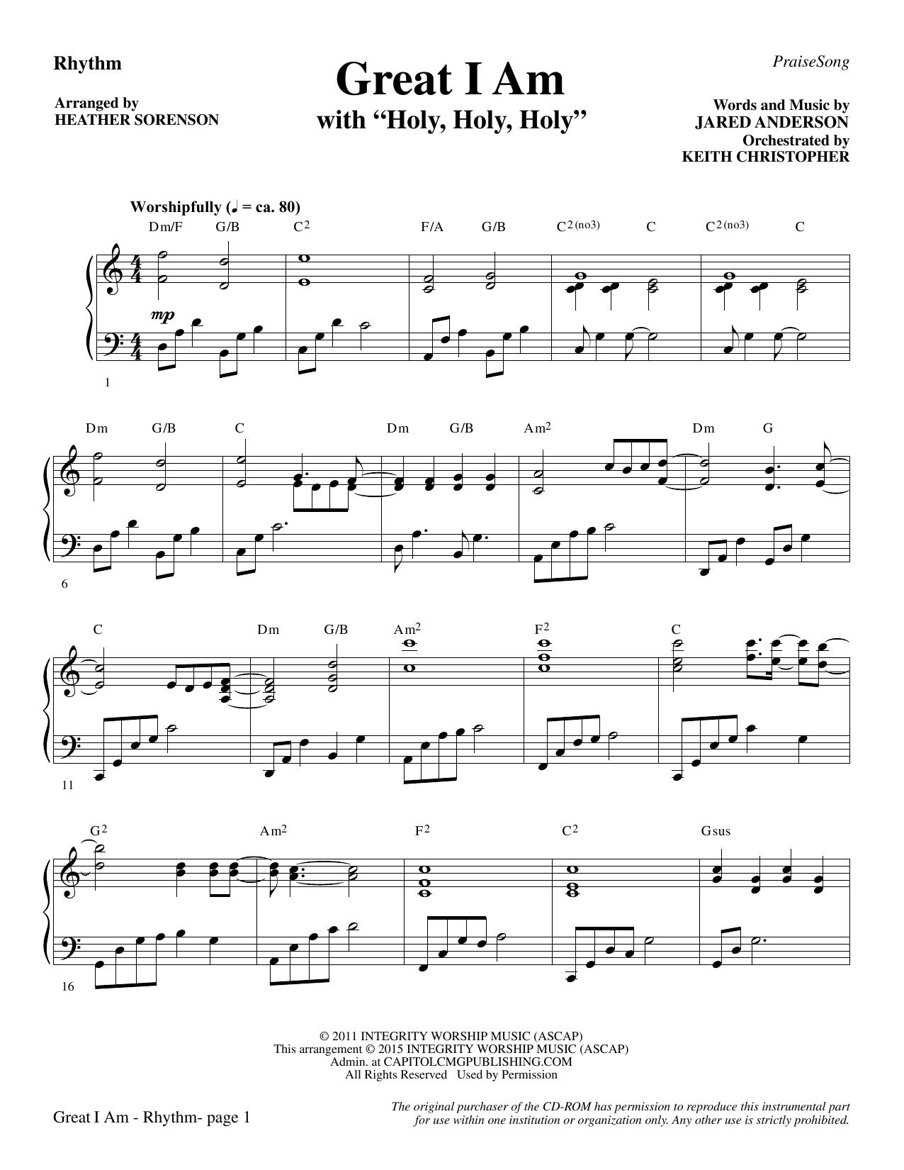 Great I Am - Rhythm (Choir Instrumental Pak)