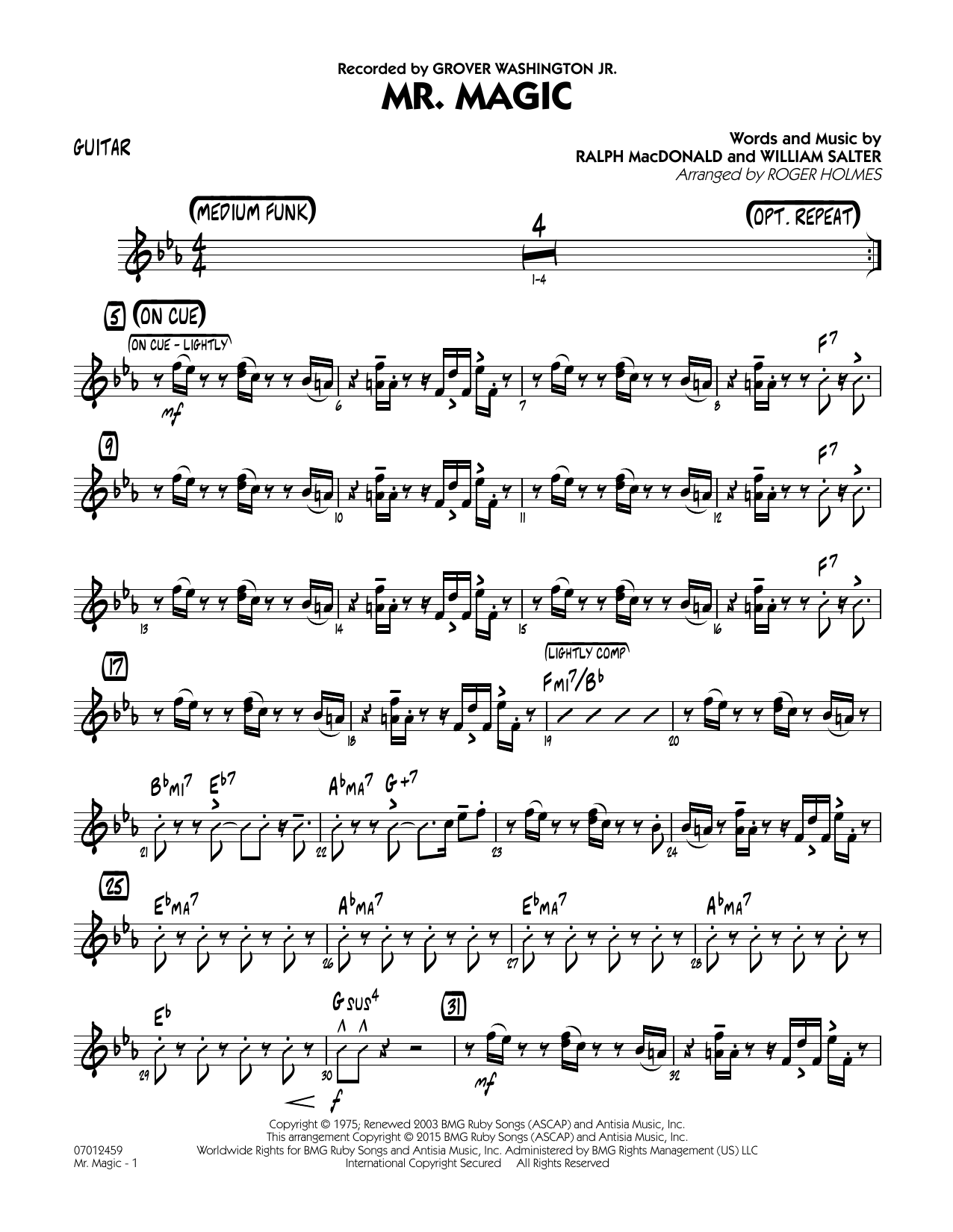 Mister Magic (Mr. Magic) - Guitar (Jazz Ensemble)