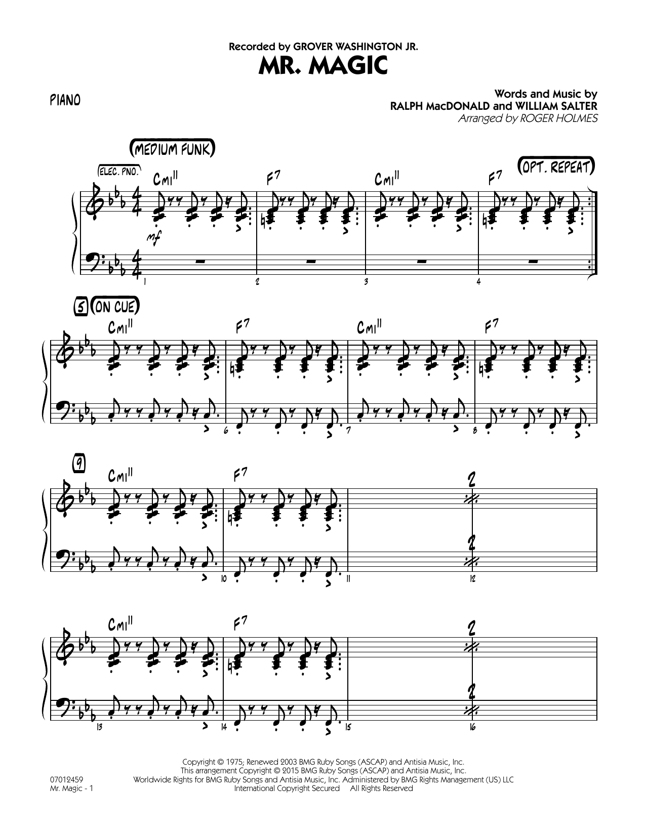 Mister Magic (Mr. Magic) - Piano (Jazz Ensemble)