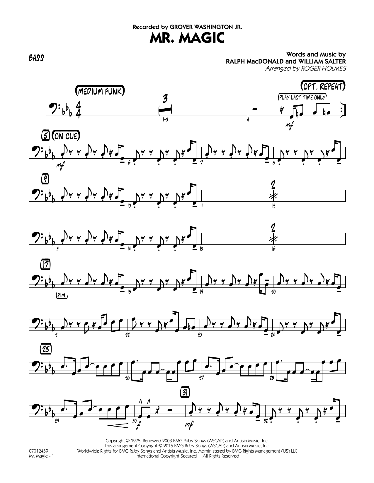 Mister Magic (Mr. Magic) - Bass (Jazz Ensemble)