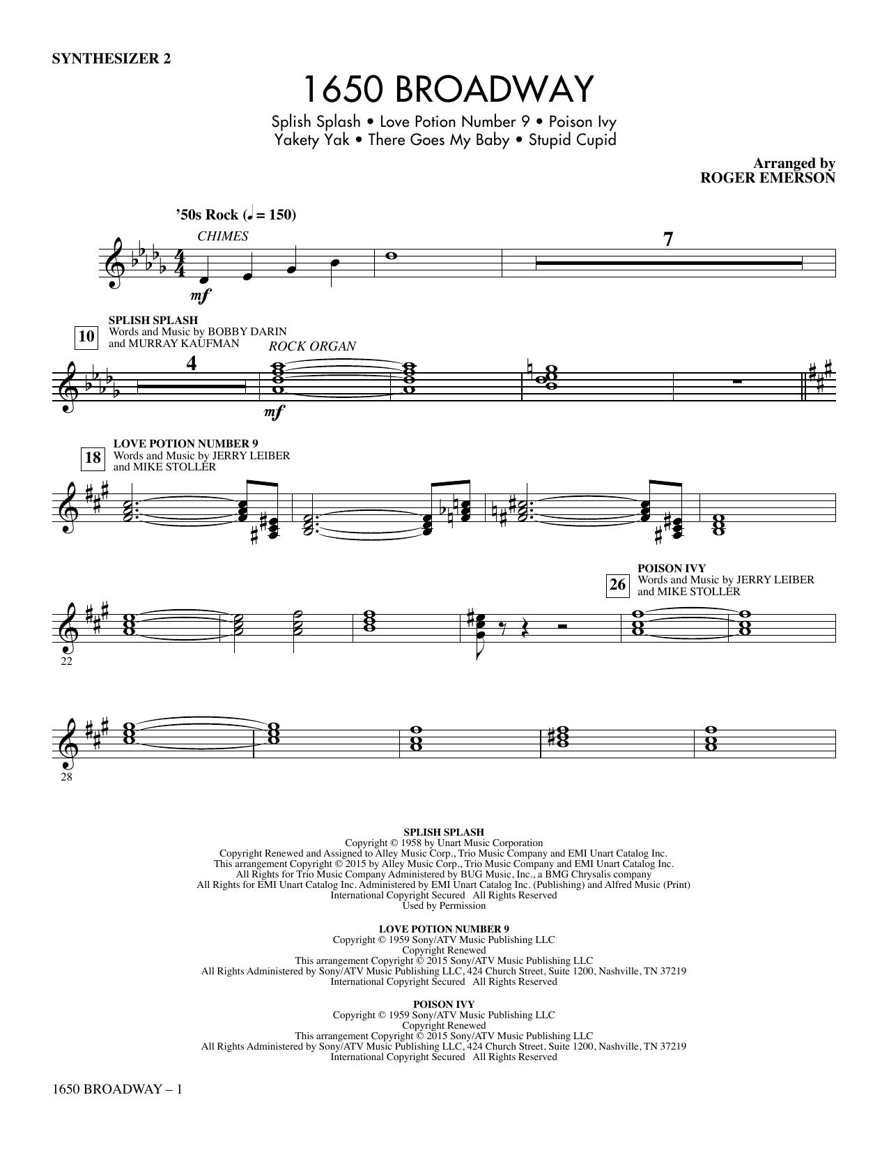 1650 Broadway (Medley) - Synthesizer II Sheet Music