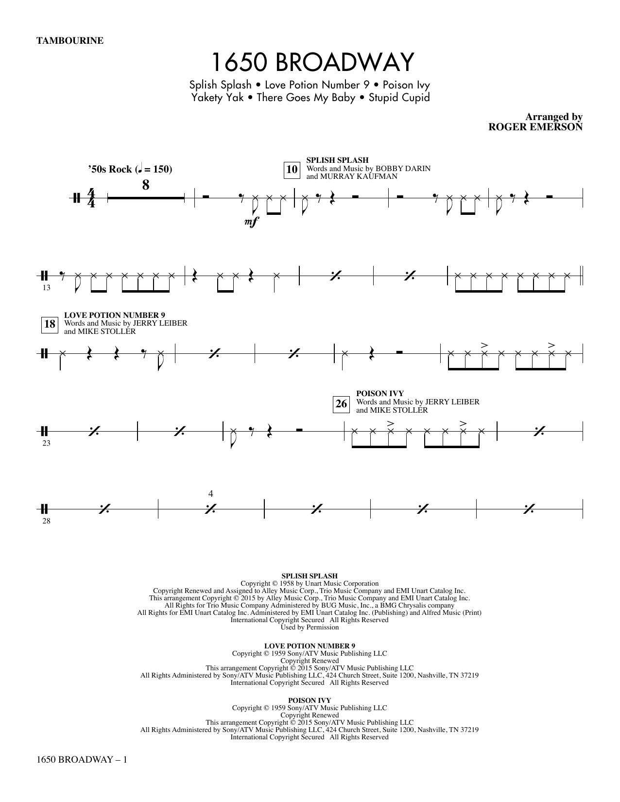 1650 Broadway (Medley) - Tambourine (Choir Instrumental Pak)