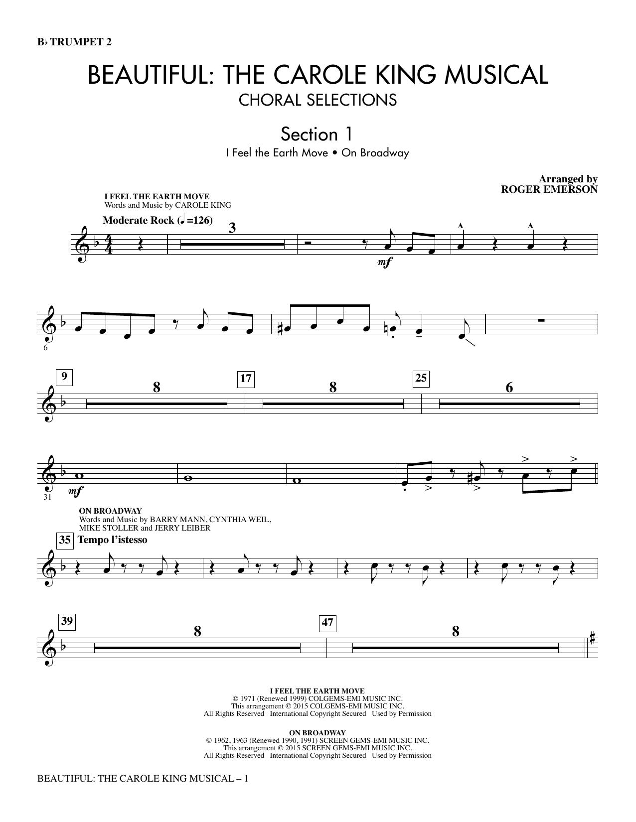 Beautiful: The Carole King Musical (Choral Selections) - Trumpet 2 (Choir Instrumental Pak)