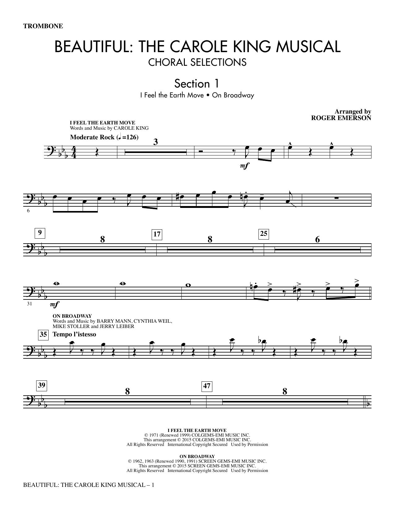 Beautiful: The Carole King Musical (Choral Selections) - Trombone (Choir Instrumental Pak)