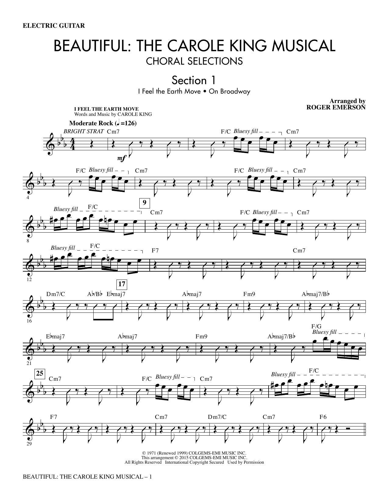 Beautiful: The Carole King Musical (Choral Selections) - Guitar (Choir Instrumental Pak)
