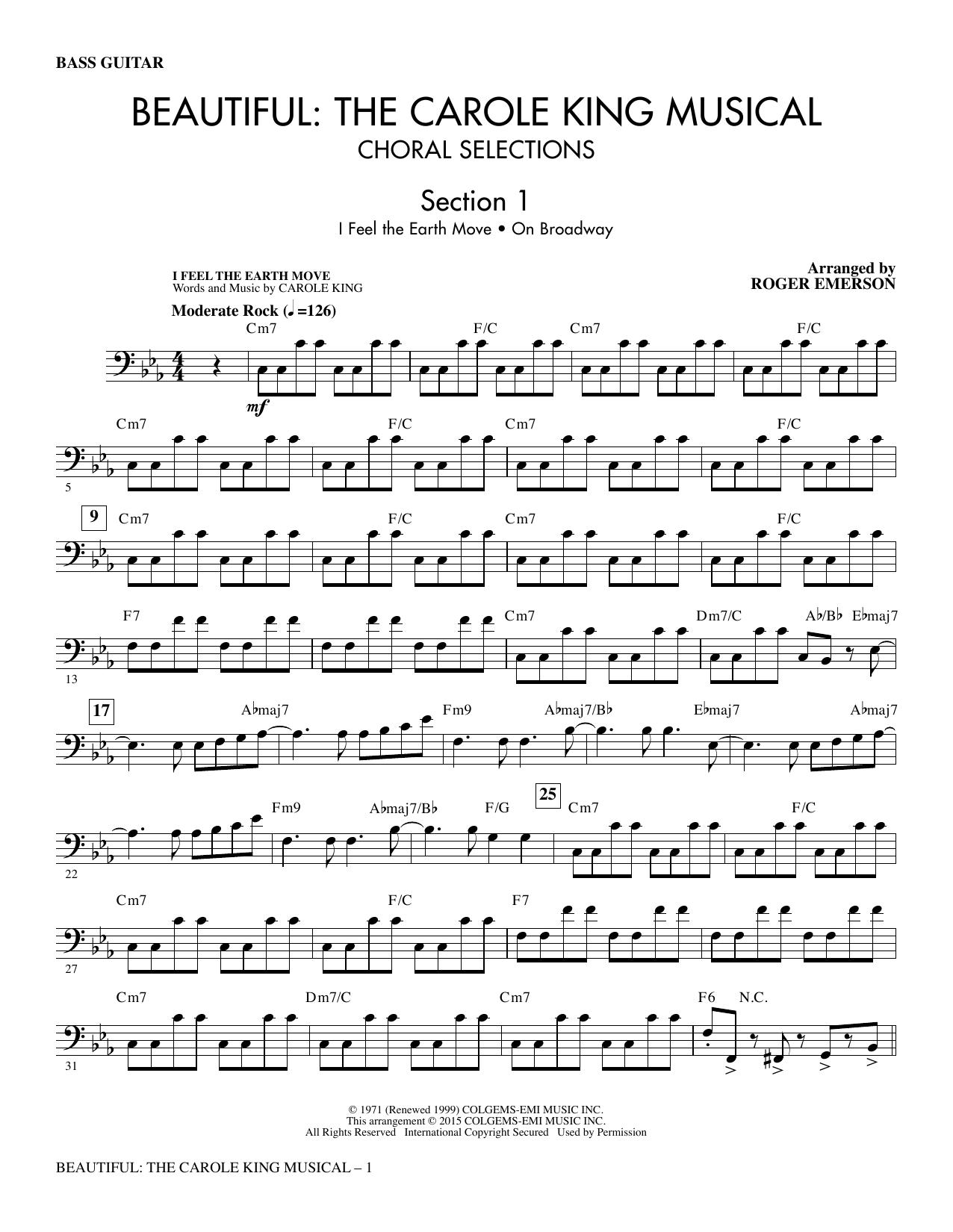 Beautiful: The Carole King Musical (Choral Selections) - Bass (Choir Instrumental Pak)