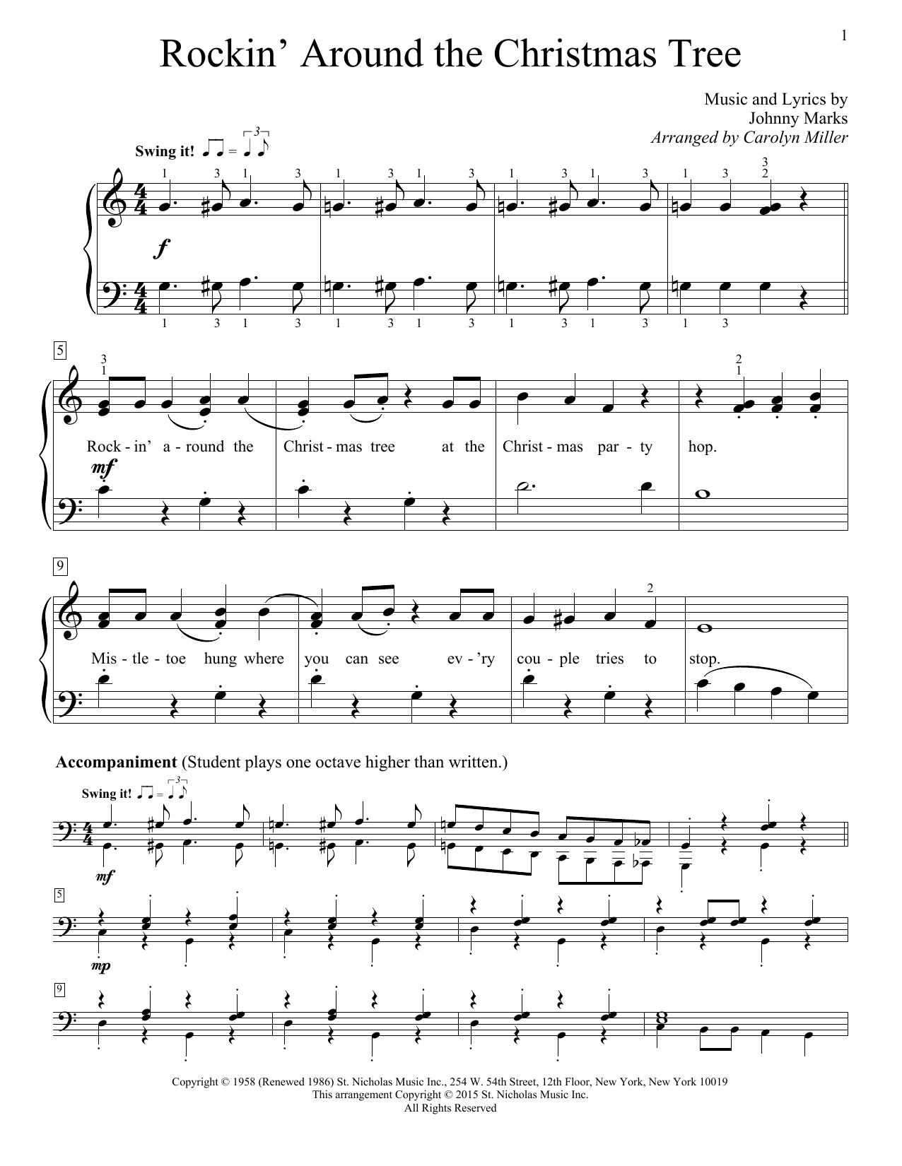 Rockin' Around The Christmas Tree sheet music by Brenda Lee ...