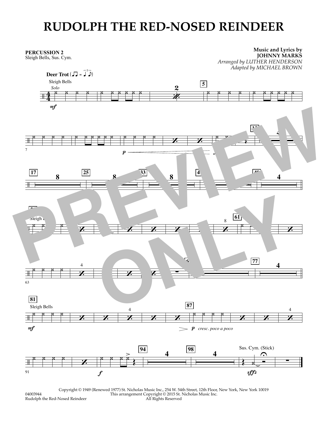 Rudolph the Red-Nosed Reindeer (Canadian Brass) - Percussion 2 (Concert Band)